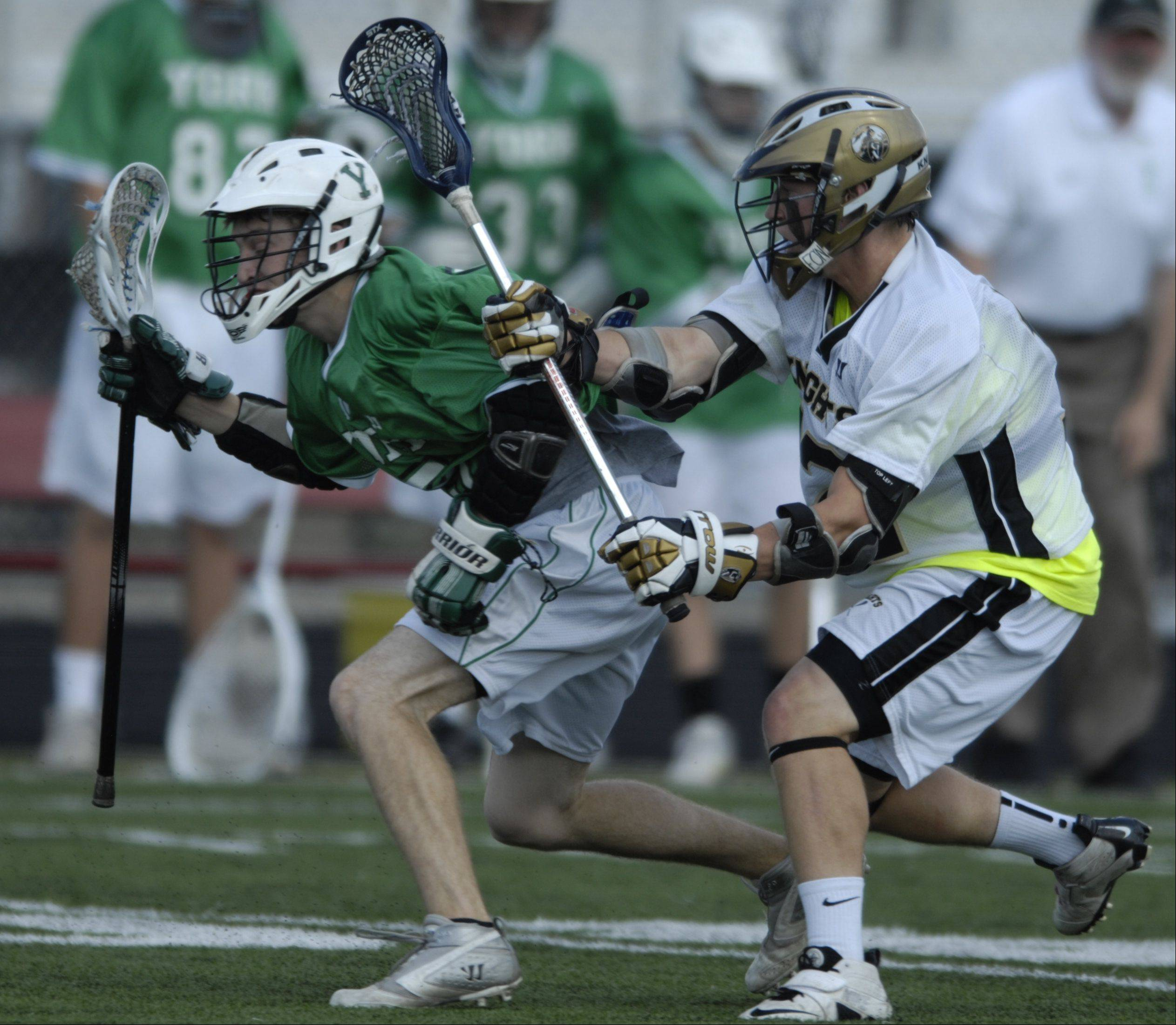 Images from the Lacrosse Cup championship game between Grayslake North High School and York High School on Saturday, June 2nd, at Palatine High School