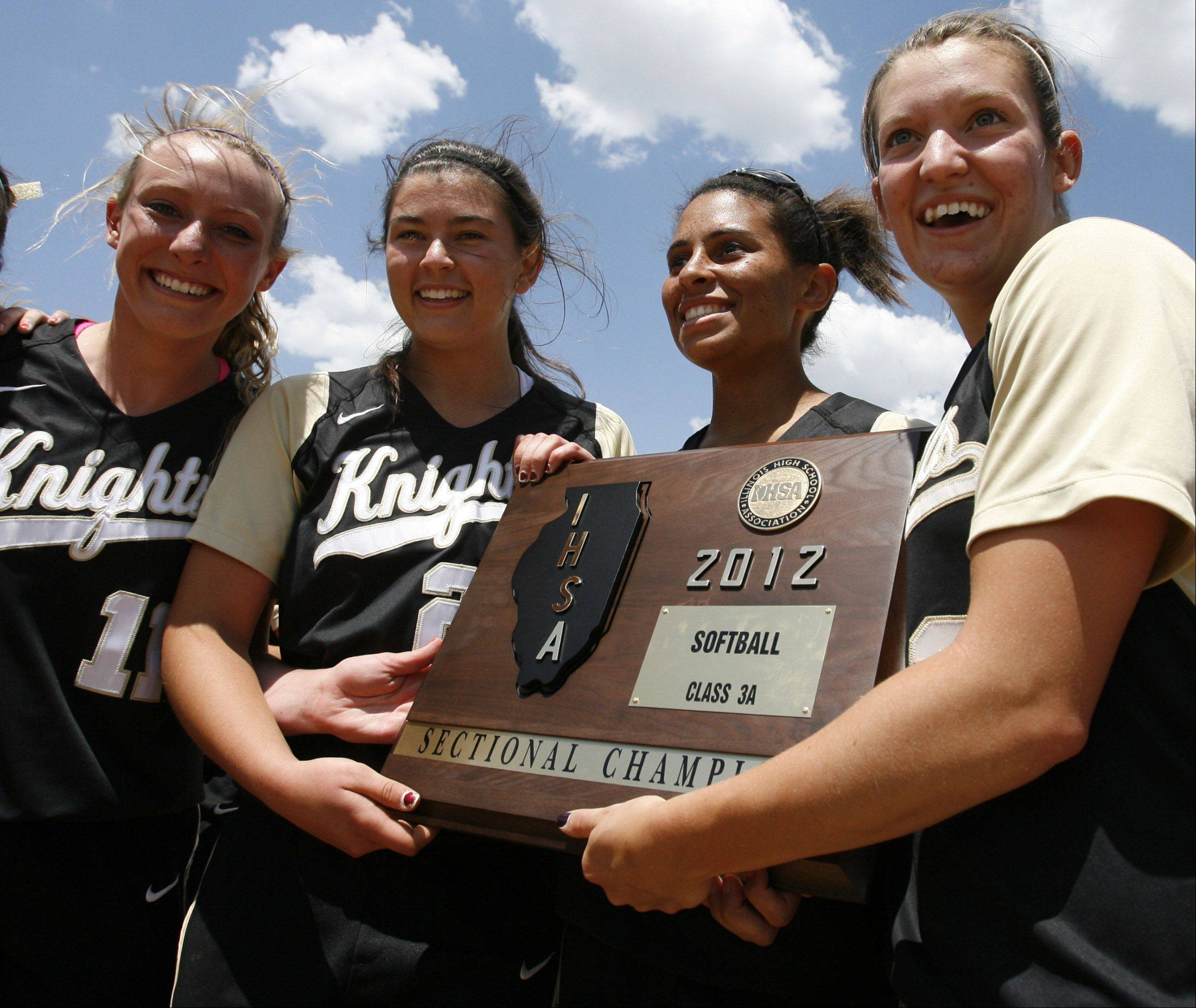 Grayslake North wins the Class 3A Lakes softball sectional final against Prairie Ridge in Lake Villa on Saturday.