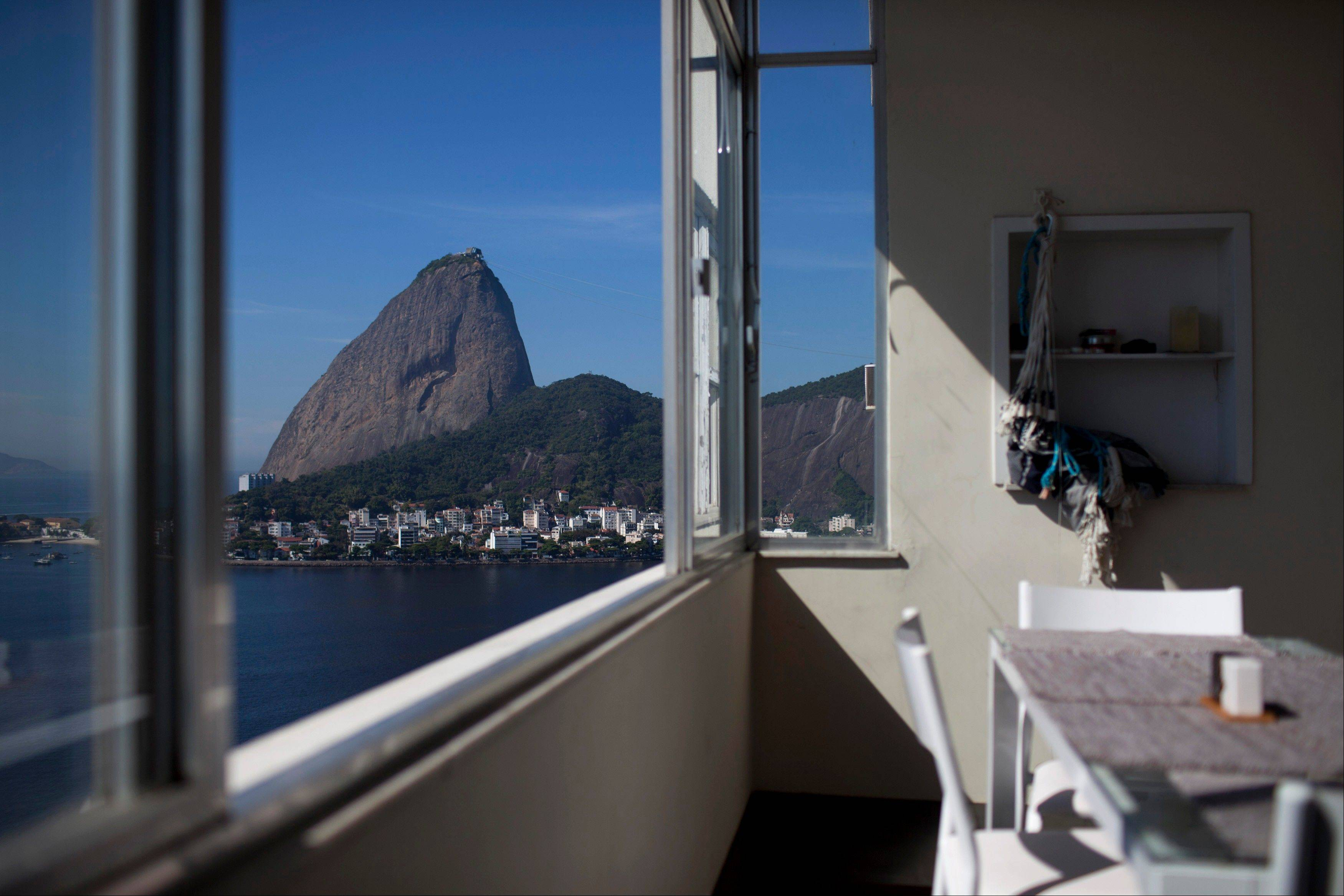 Sugarloaf mountain is visible from an apartment in the Flamengo neighborhood of Rio de Janeiro, Brazil. Brazilís burgeoning middle class is moving up in the world, into fancier high-rises. The discovery of vast oil deposits off the coast has flooded the city with renters carrying fistfuls of petrodollars. And property owners already are hiking rents in anticipation of Rio's upcoming mega-events, the 2014 soccer World Cup and 2016 Olympics.