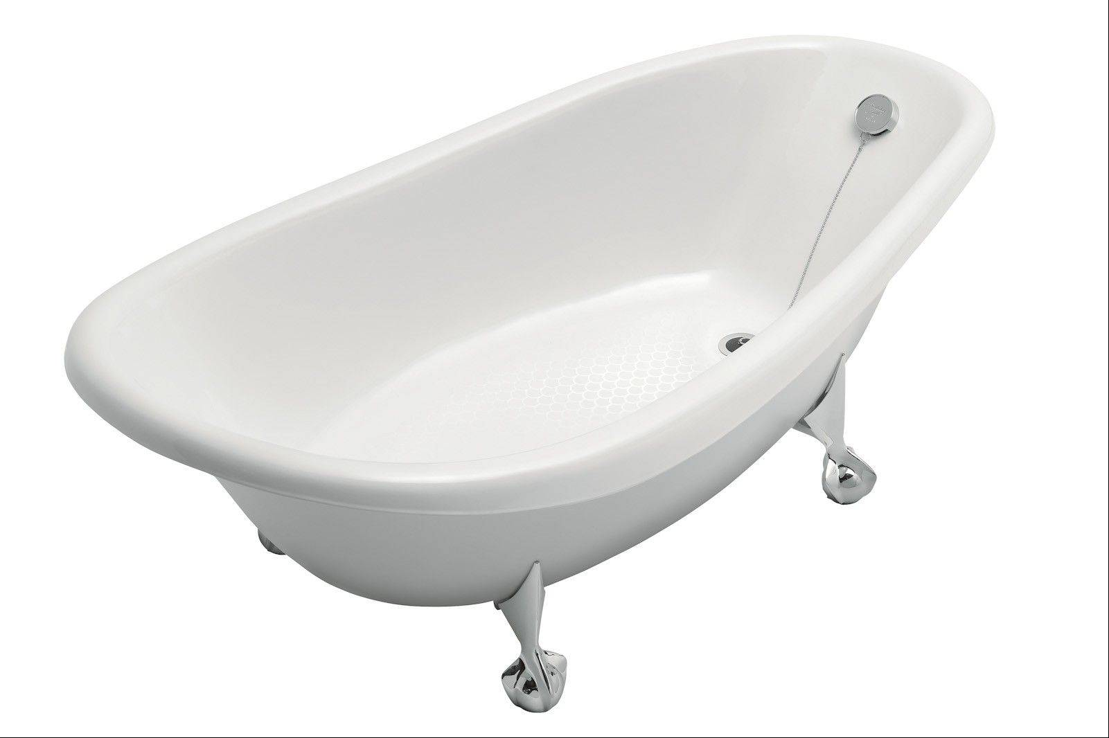 Claw-foot, cast-iron tubs are still being made, and the free-standing design can create a striking focal point for any bathroom.