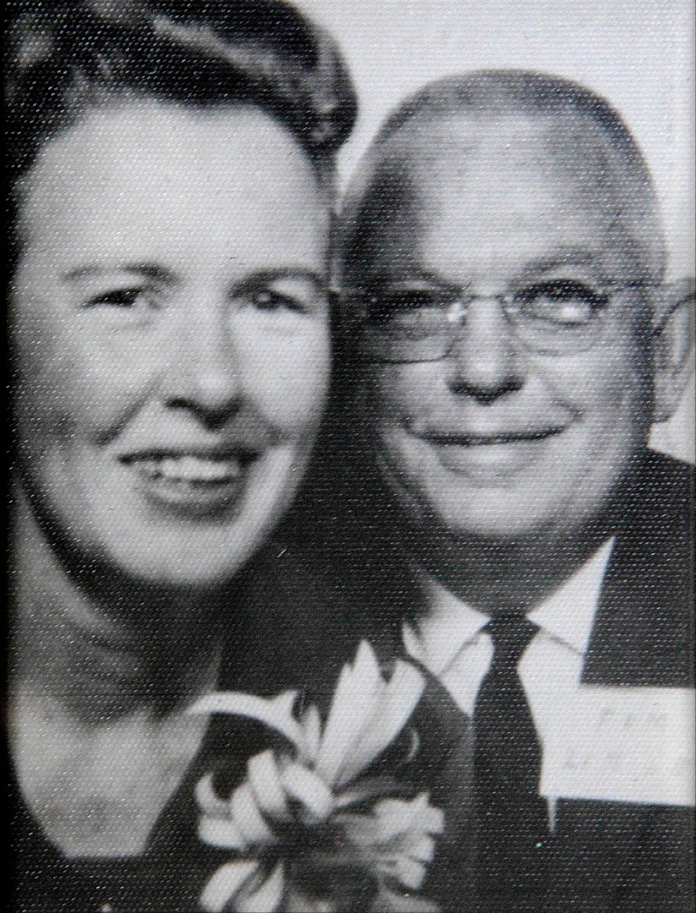 This 1962 photo provided by Tom Little Jr. shows his parents, Tom and Charlotte Little, taken in a photo booth at the Atlanta airport before they boarded a flight to Paris. Little was 12 when his parents were killed aboard a returning chartered Air France plane carrying a group of Atlanta's cultural leaders that crashed on takeoff at Orly Field in Paris in 1962.
