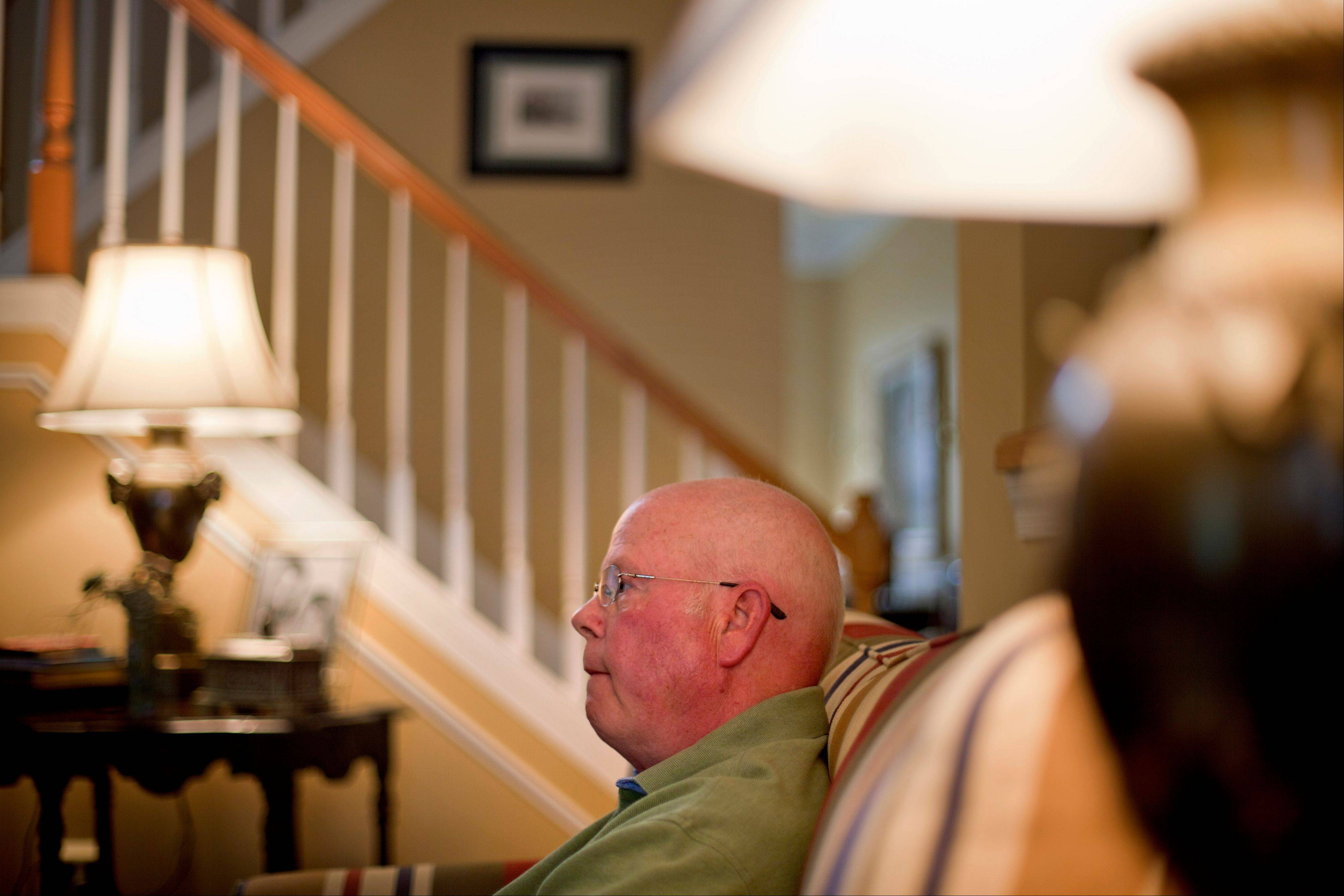 In this Thursday, May 17, 2012 photo, Tom Little sits in his Roswell, Ga. home as he recounts the day his parents were killed fifty years ago aboard a chartered Air France plane carrying a group of Atlantaís cultural leaders that crashed on takeoff at Orly Field in Paris.