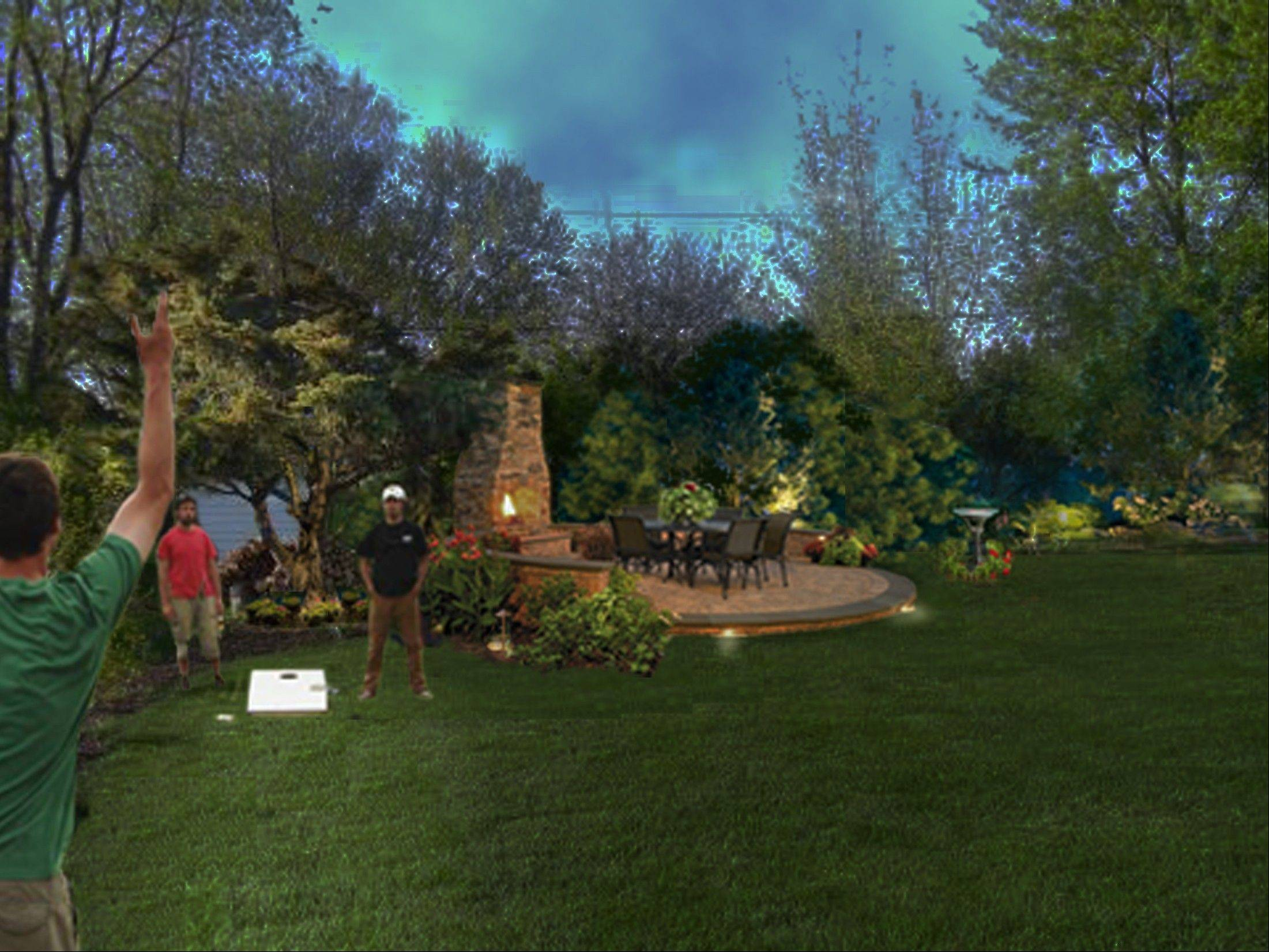 Northwest Lighting and Accents offers this design to make a backyard an entertainment mecca.