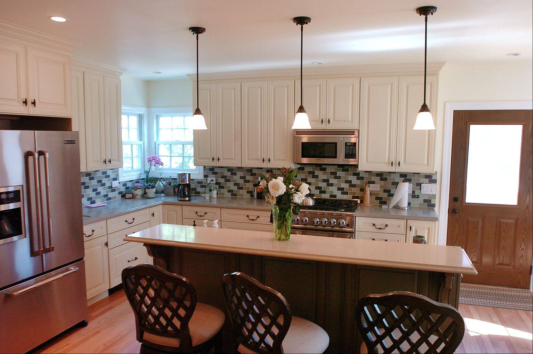 Daisy Kessler selected the finishes when she and her husband Mike Martini expanded the kitchen in their Arlington Heights home.