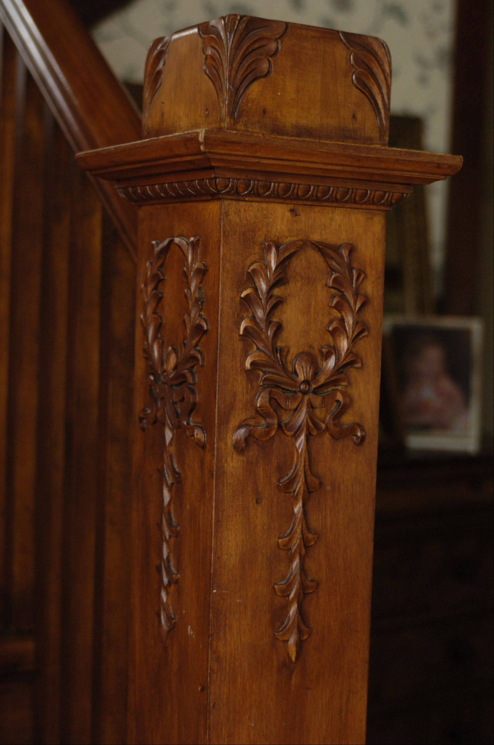 The woodwork is one of the impressive features of Jessica and Mike Braun's home.