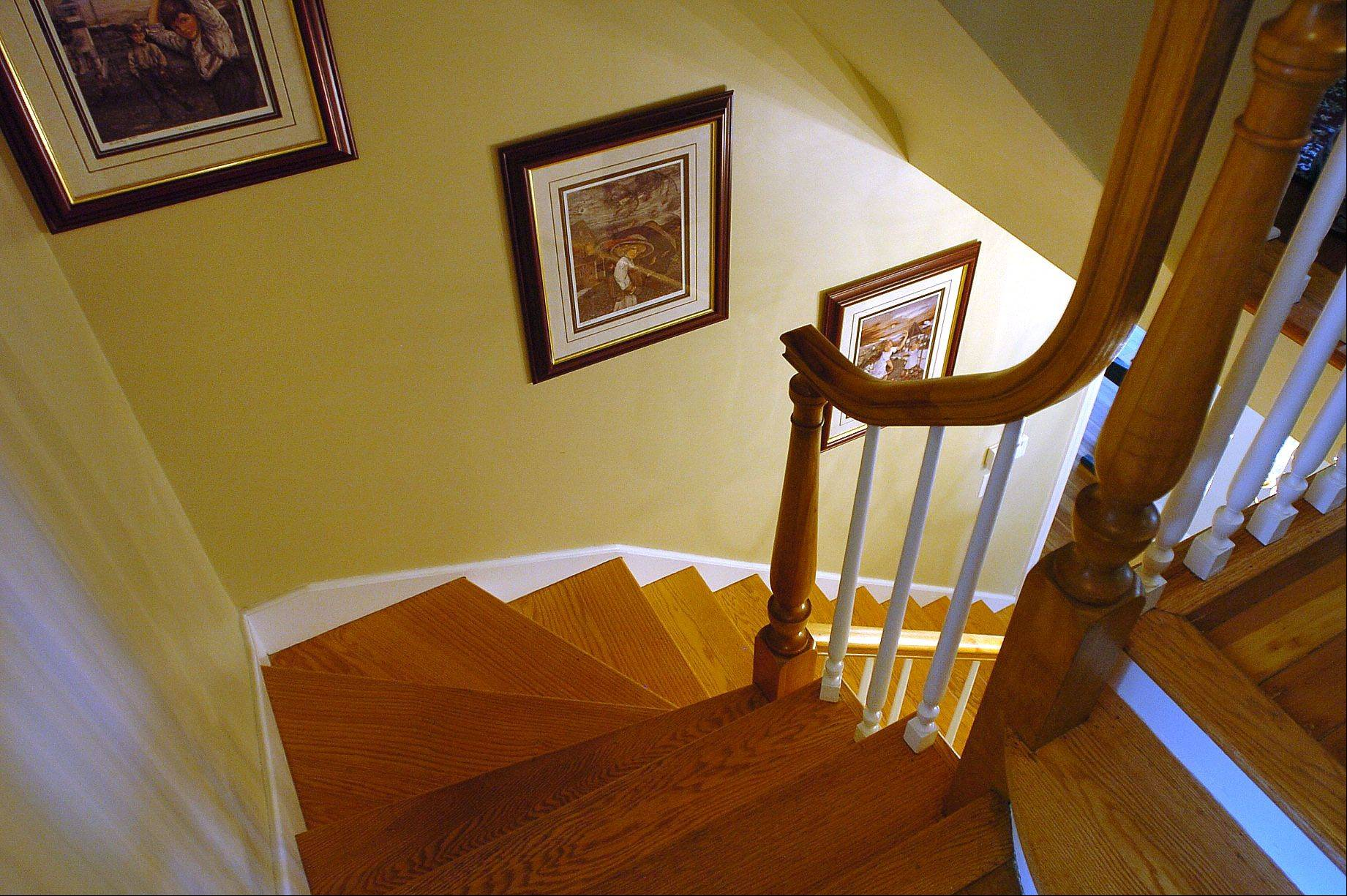 This staircase was probably built in the Martini/Kessler home in the 1940s.