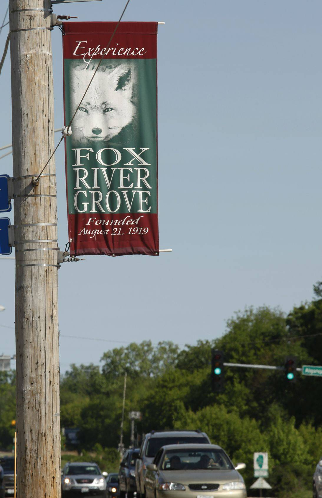 A street banner in Fox River Grove.
