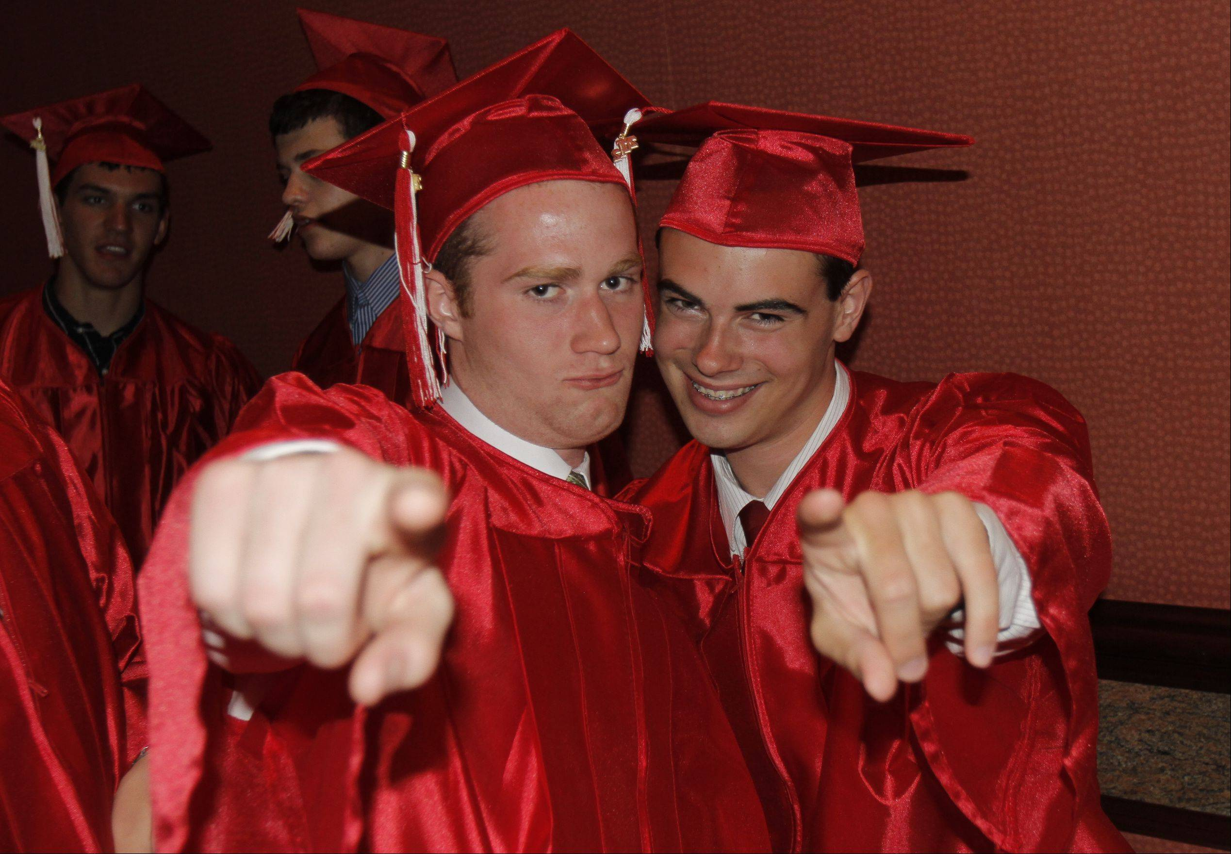 Images from the Maine South High School graduation on Sunday, June 3rd in Rosemont at the Rosemont Theatre.