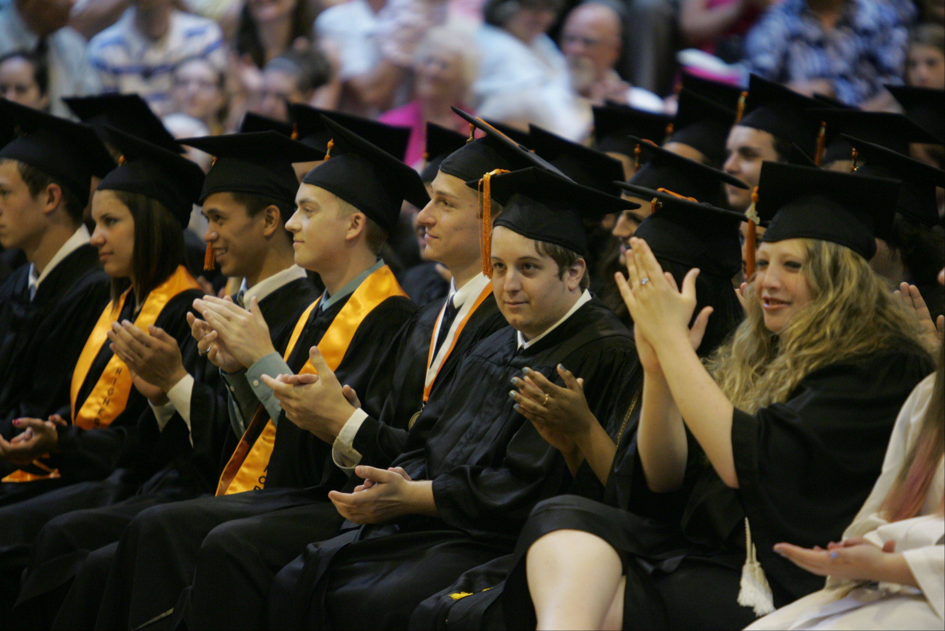 Images from the John Hersey High School graduation on Sunday, June 3 in Arlington Heights.