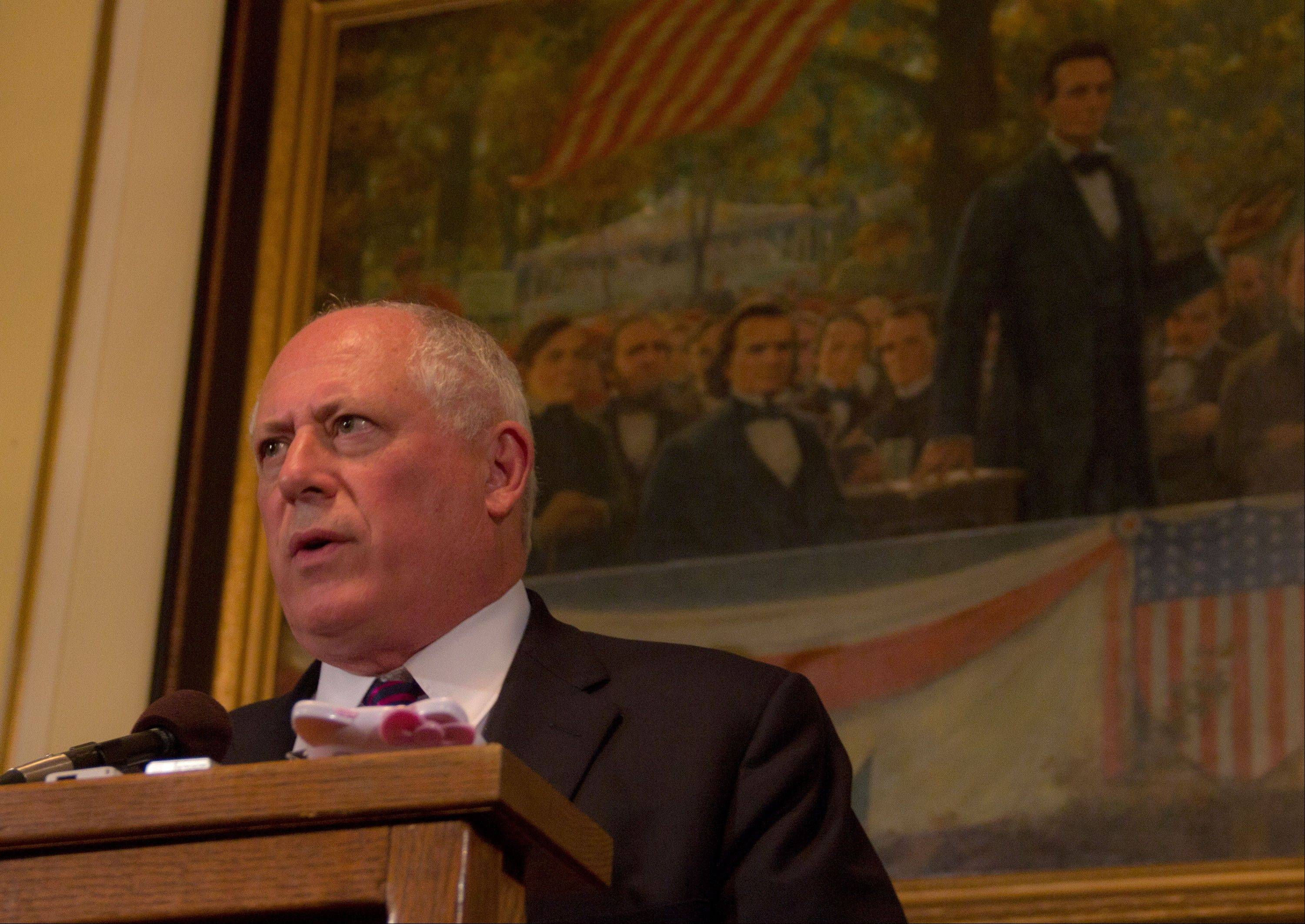 "Gov. Pat Quinn told reporters Friday he wants to come to a pension reform compromise ""as soon as possible."""