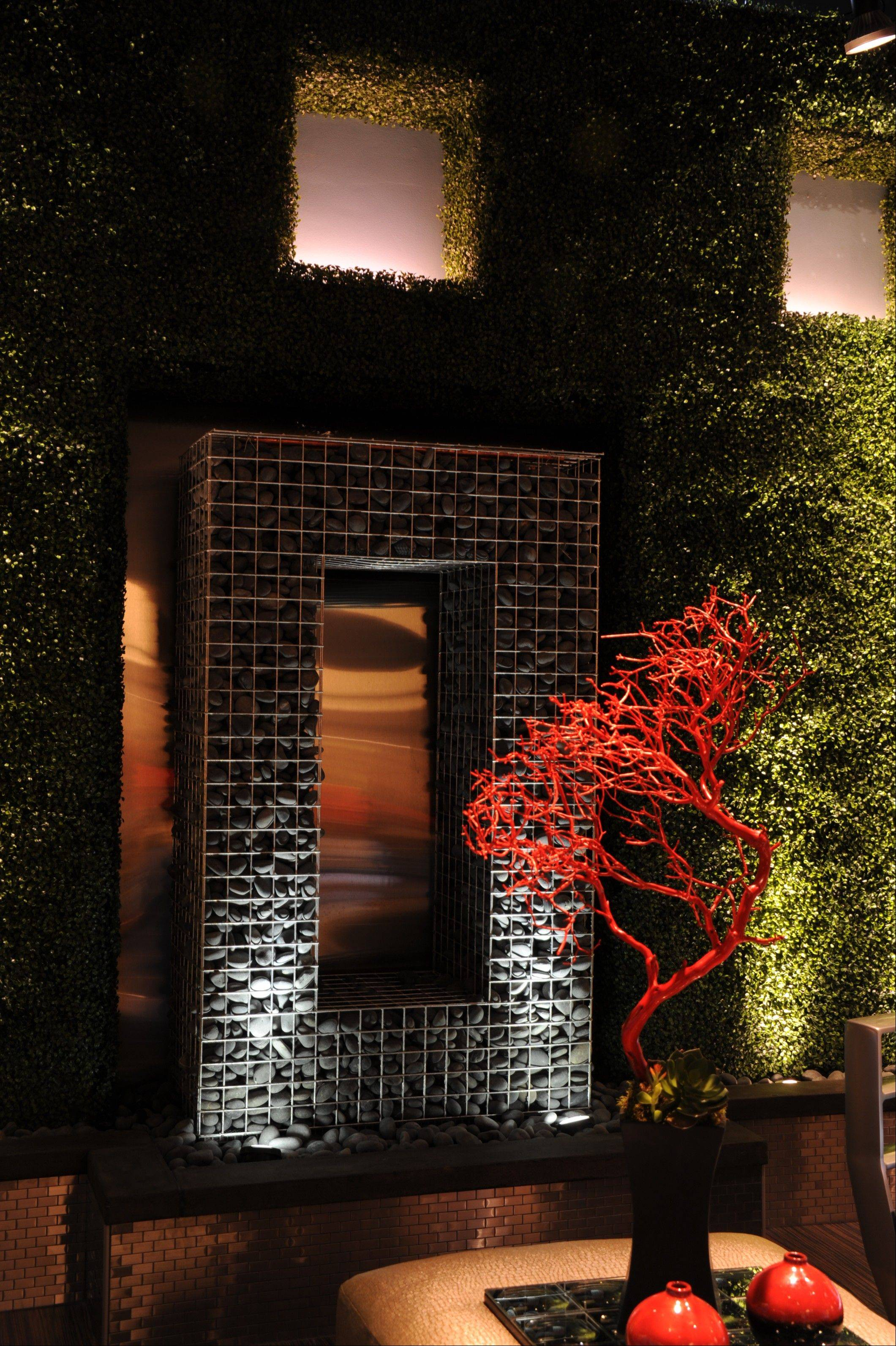 "Michael Anthony of 1 Design Group created this ""outdoor room"" at the Merchandise Mart last year."