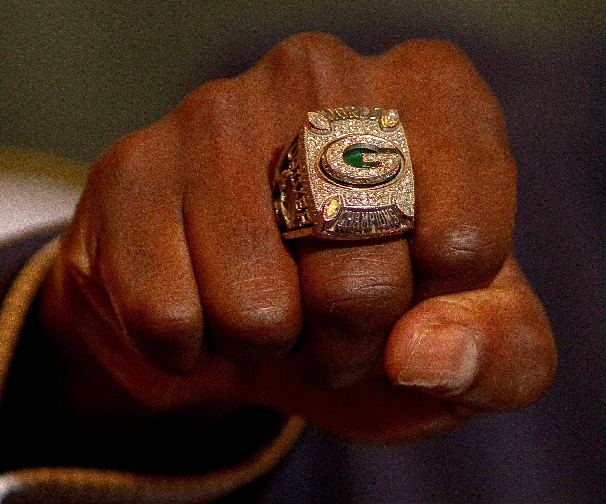 Federal agents discovered a Green Bay Packers Super Bowl ring like this one in the home of a Des Plaines man during an investigation into drug trafficking in May.
