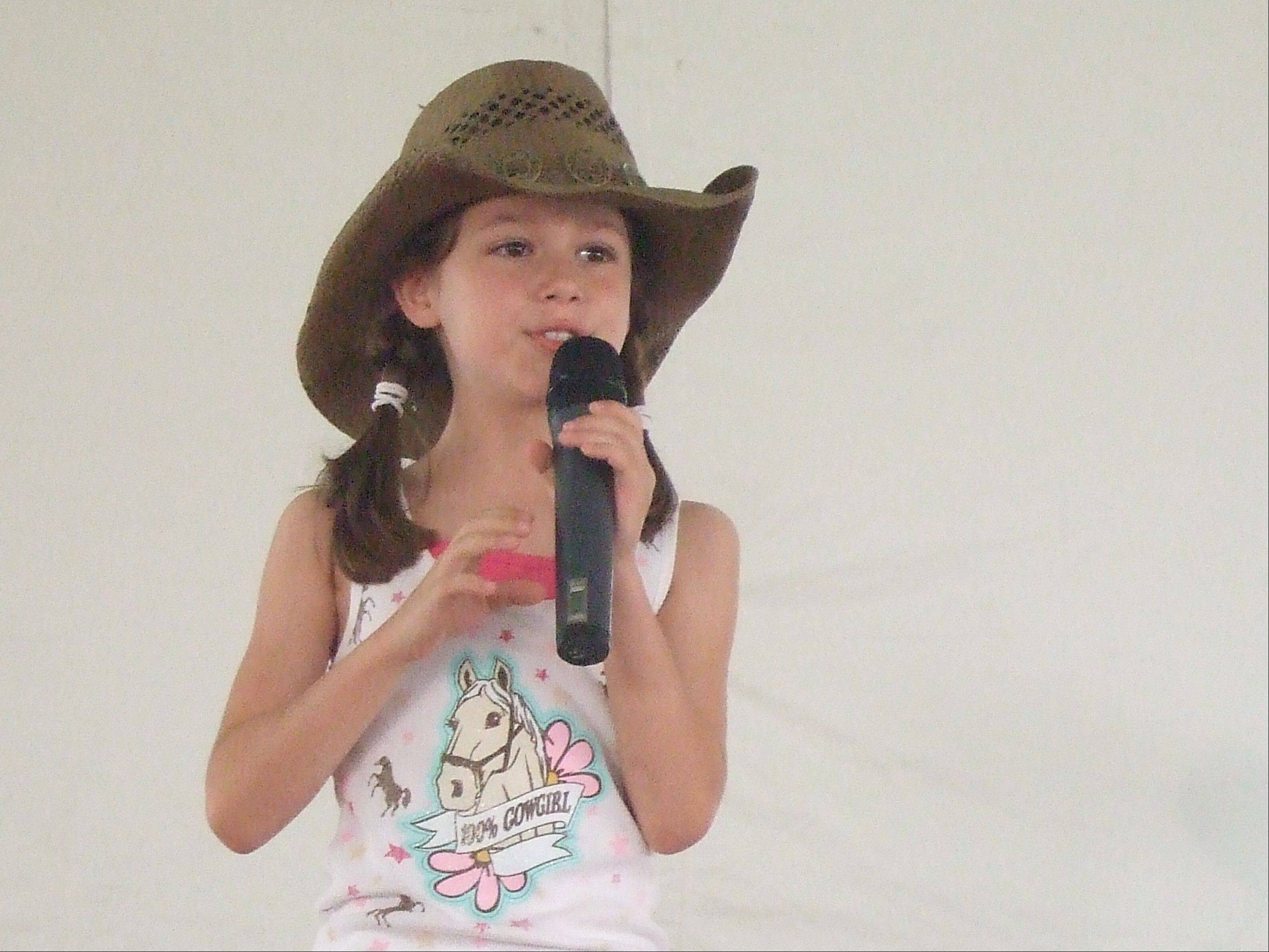Shealeigh Voitl won the singing competition at the DuPage County Fair when she was 9.