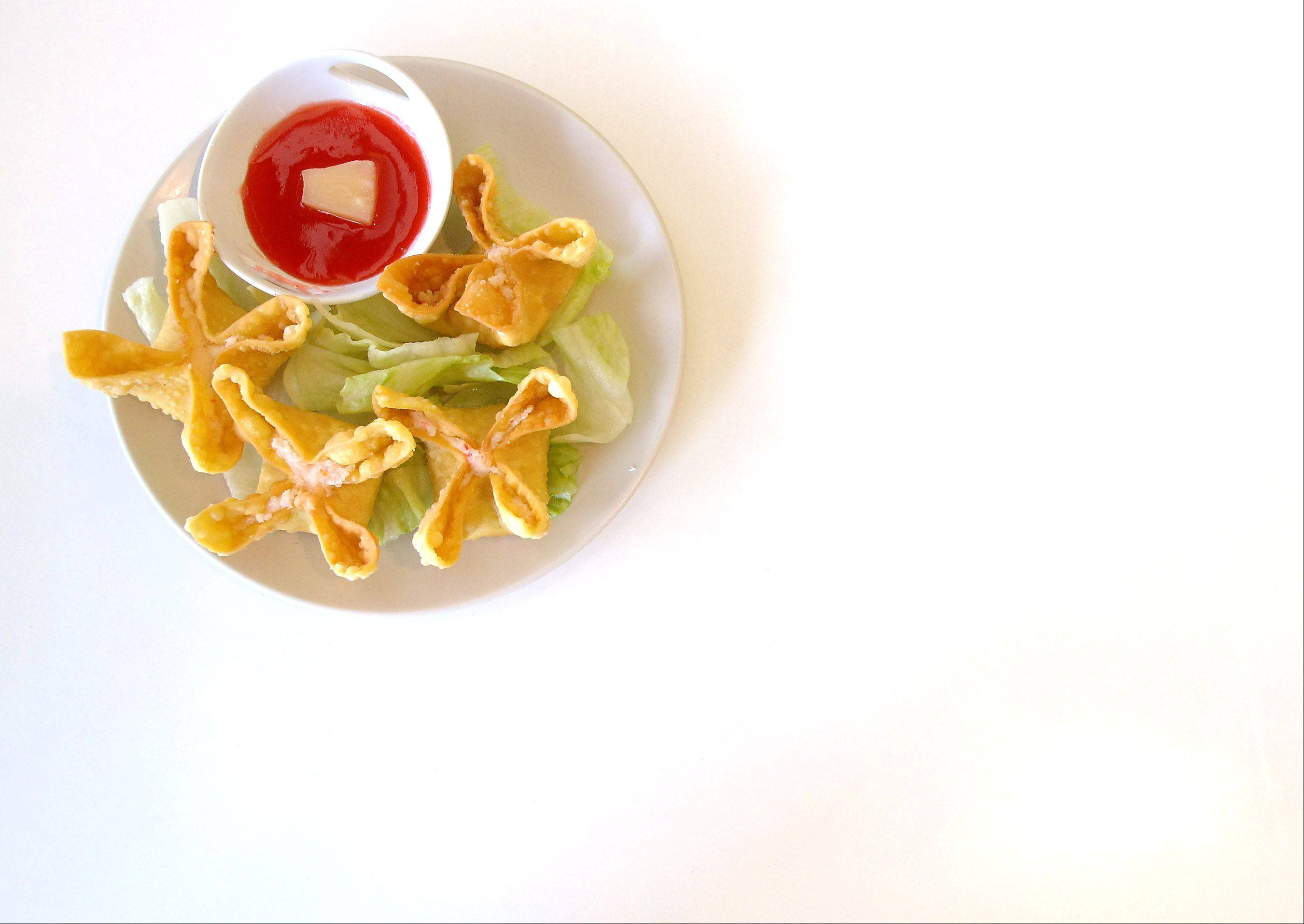 Crab rangoon is just one starter at Elgin's Little Panda.