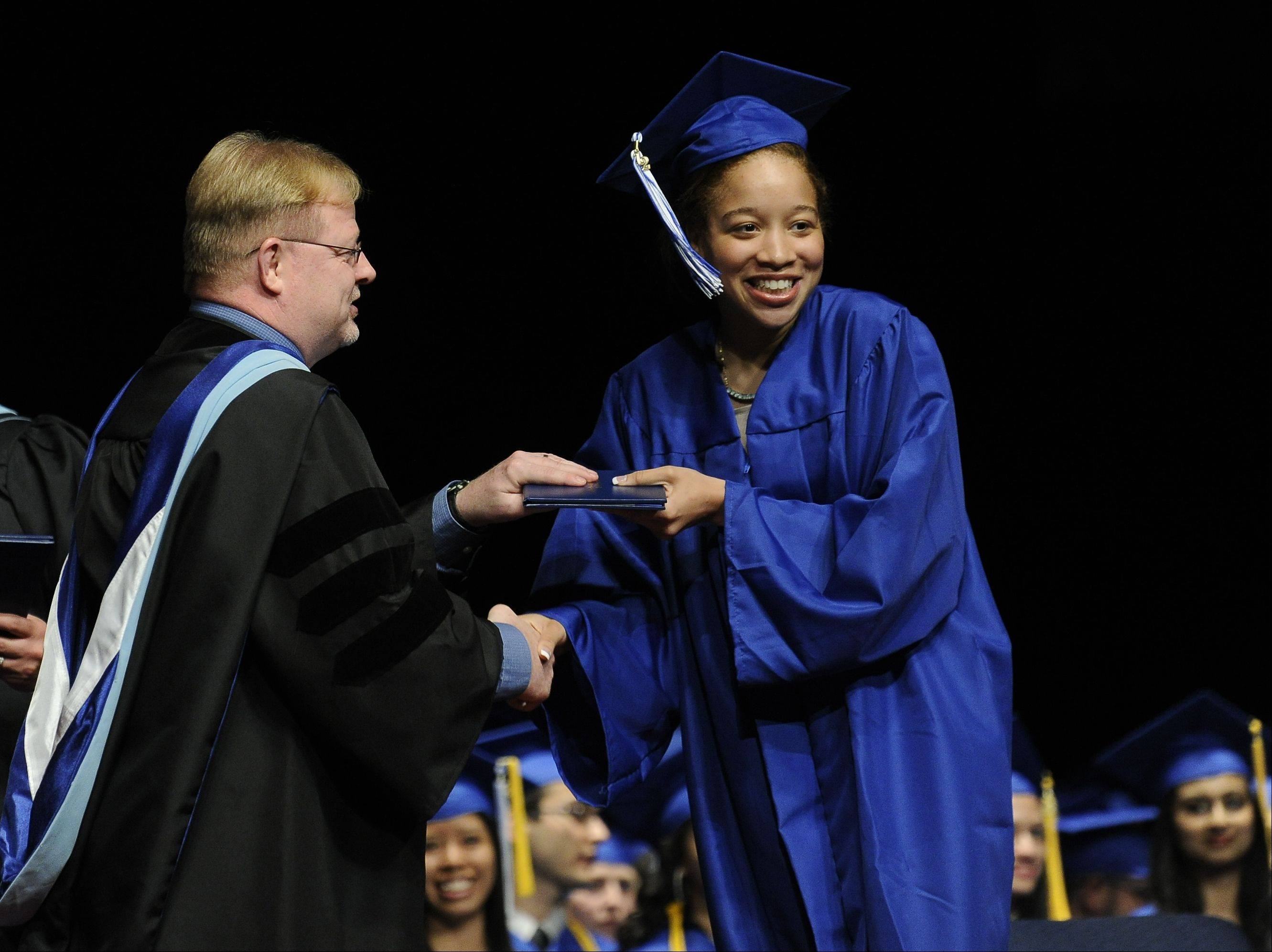 Images from the Maine East High School graduation on Monday, June 4th, in Rosemont at the Akoo Theatre.