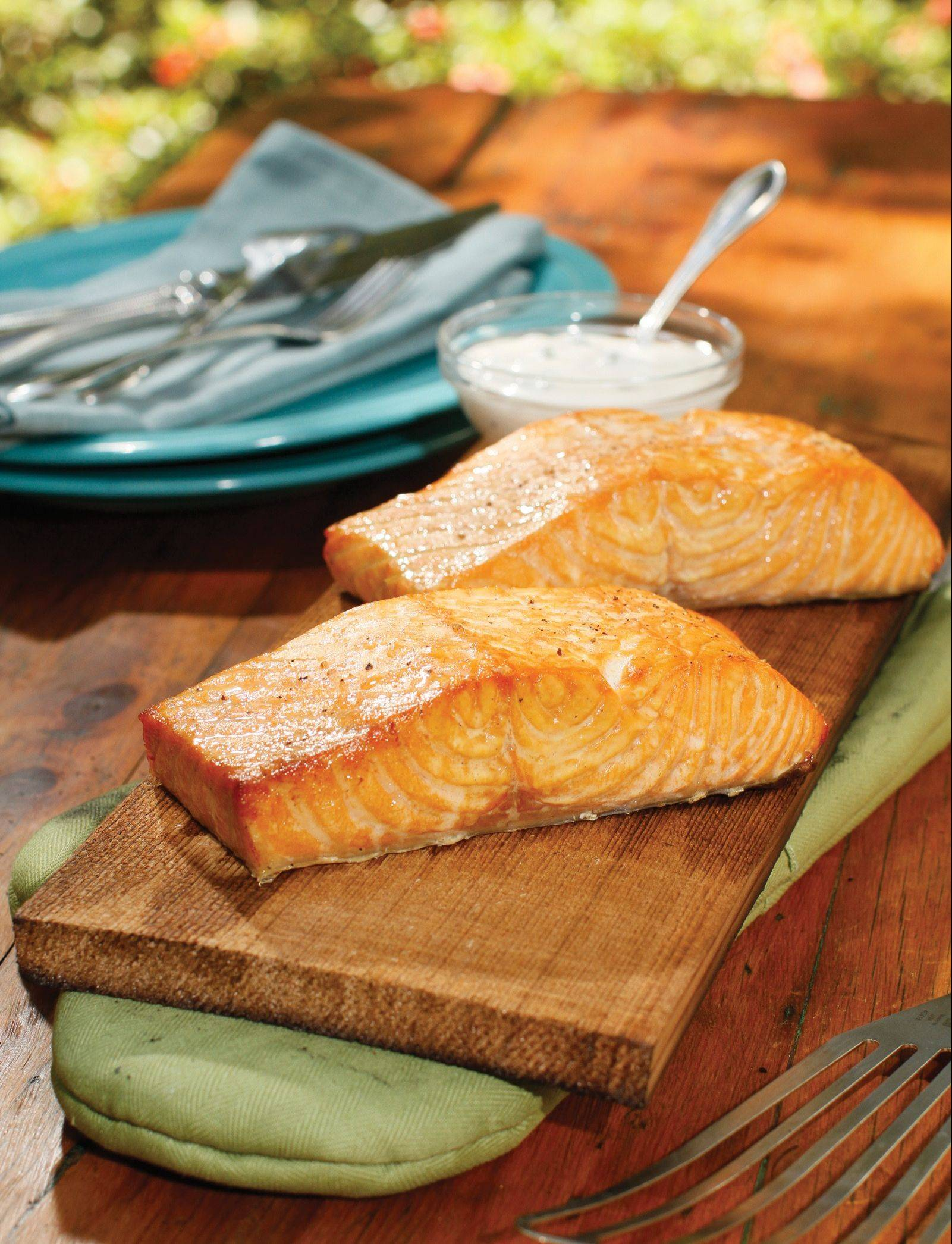 Cedar Plank Salmon with Caper Remoulade