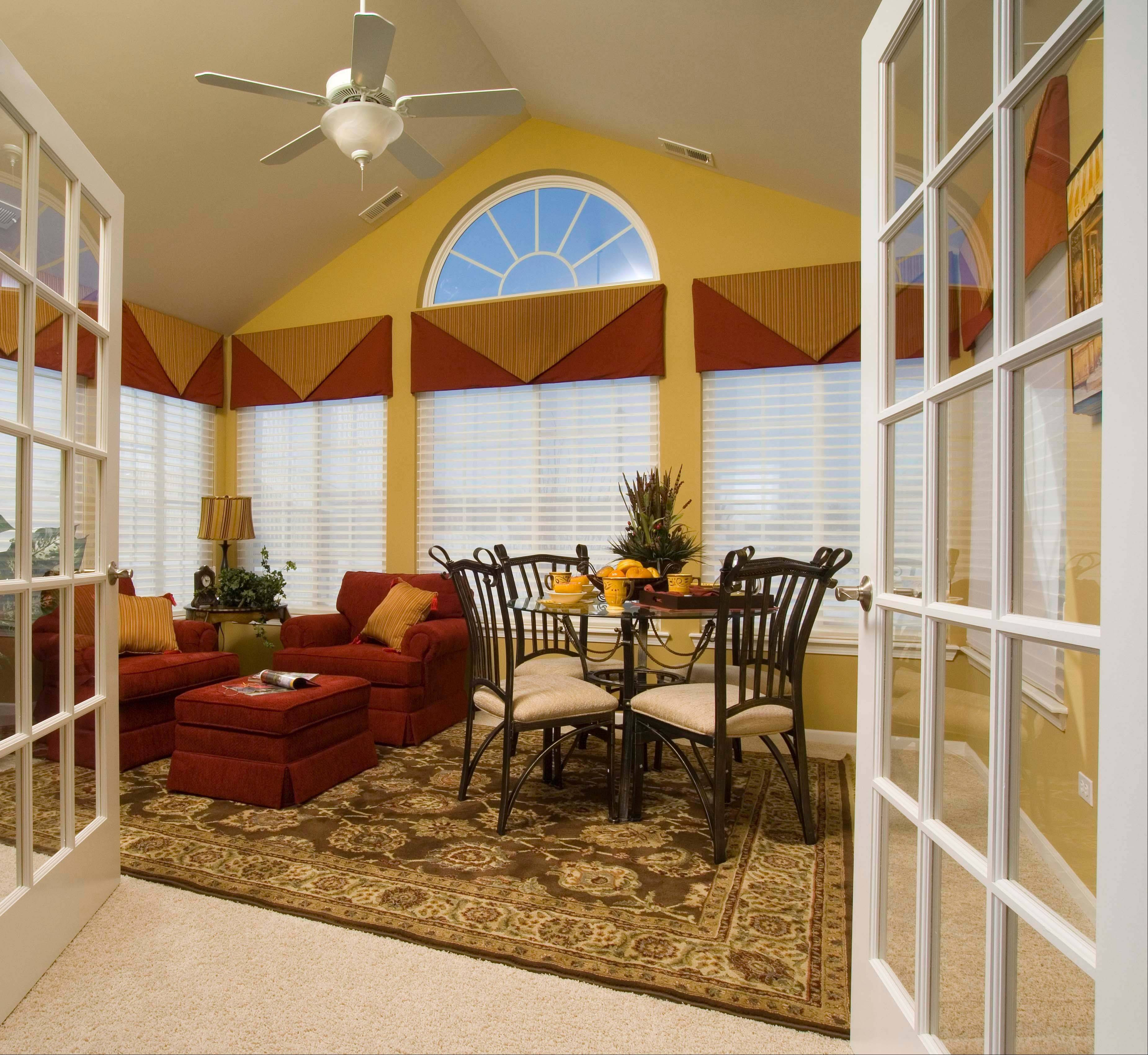 Epcon Communities' four-season room is included in the base price of the ranch villa homes being offered in Maples at the Sonatas in Woodstock.