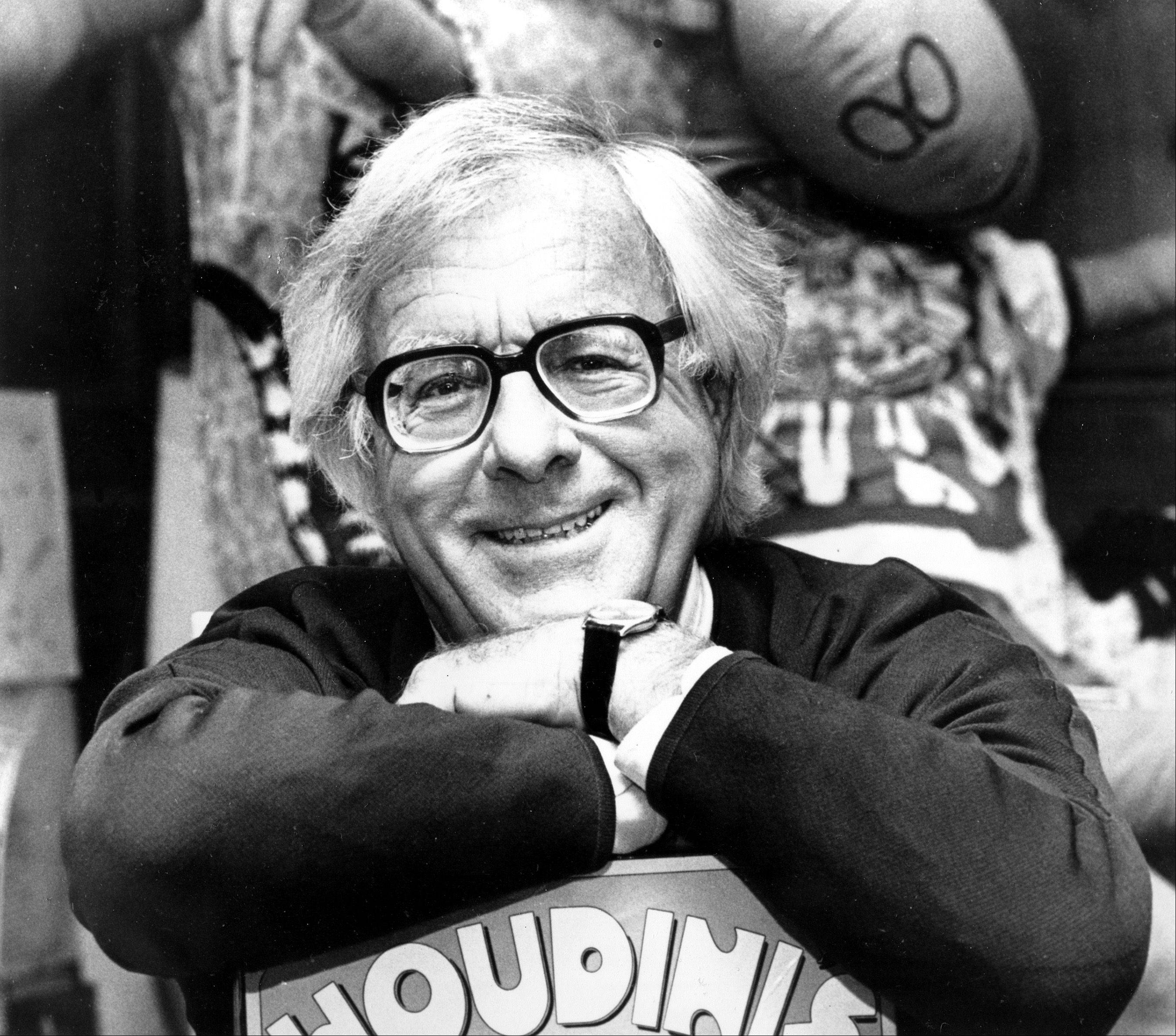 Science fiction writer Ray Bradbury smiles in his Beverly Hills, Ca., office in Feb. 1982.