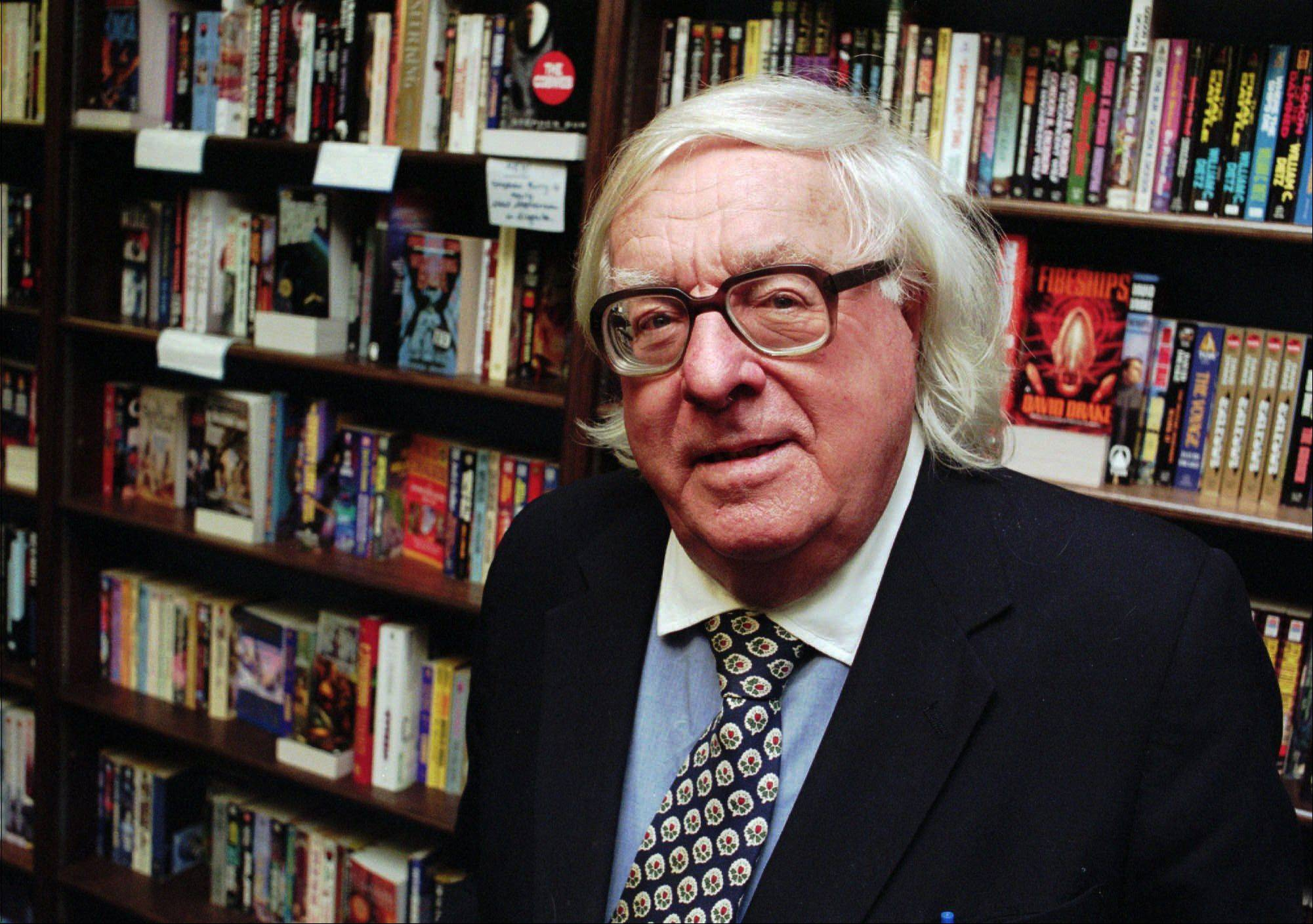 "This Jan. 29, 1997 file photo shows author Ray Bradbury at a signing for his book ""Quicker Than The Eye"" in Cupertino, Calif. Bradbury, who wrote everything from science-fiction and mystery to humor, died Tuesday, June 5, 2012 in Southern California. He was 91."