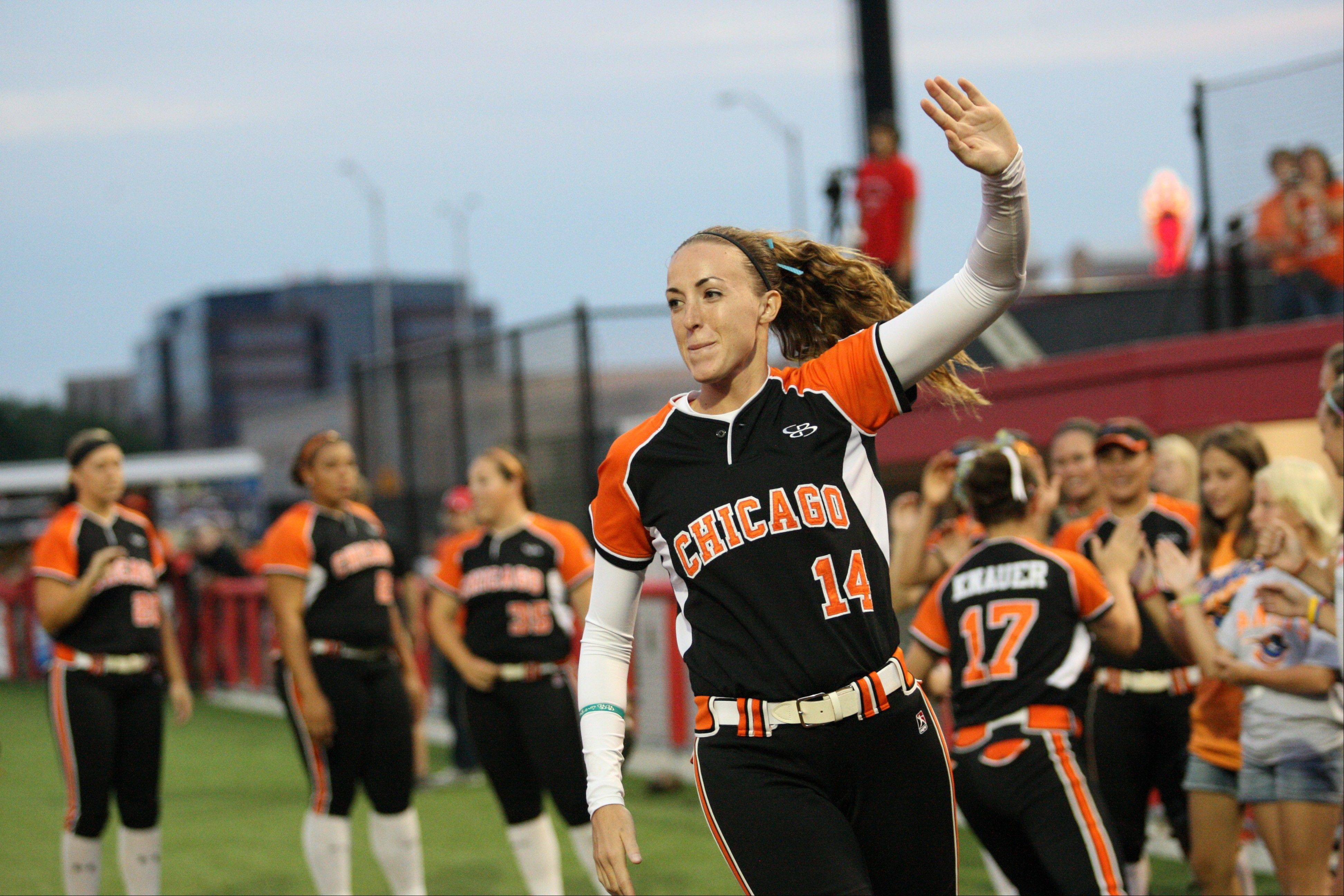 Chicago Bandits pitcher Monica Abbott will be back again to lead the NPF team for the 2012 season.