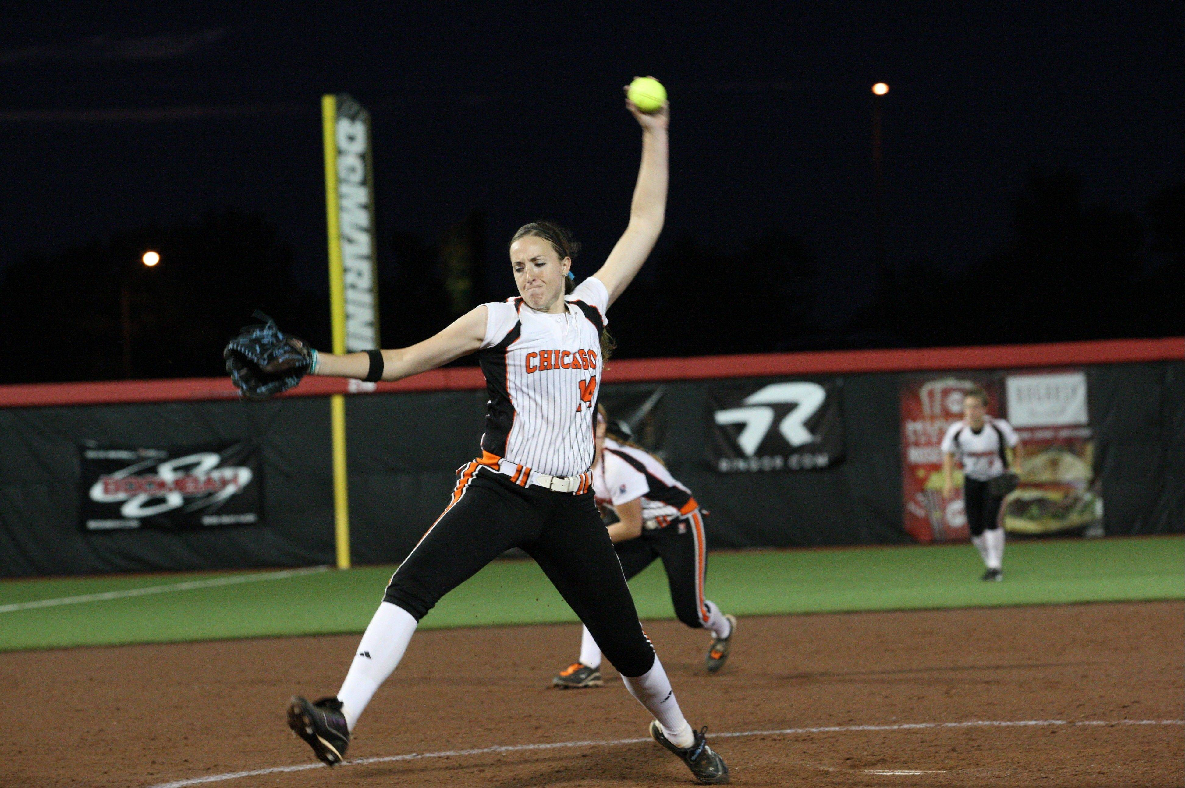 Last season Chicago Bandits pitcher Monica Abbott tossed a perfect game, and later helped her team capture the NPF title in the playoffs.