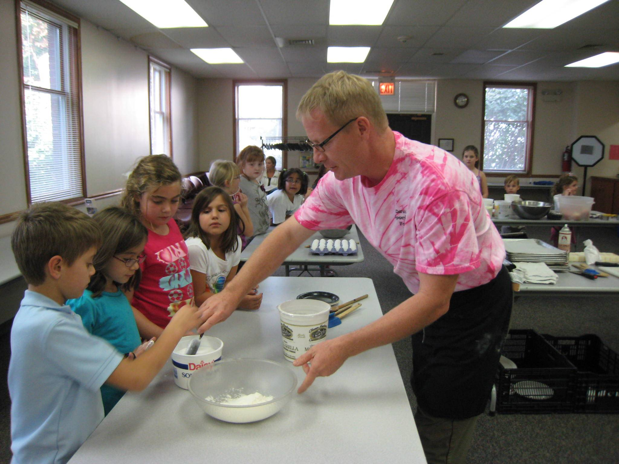 Cooking with Chef Dave is a fun and hands on experience.