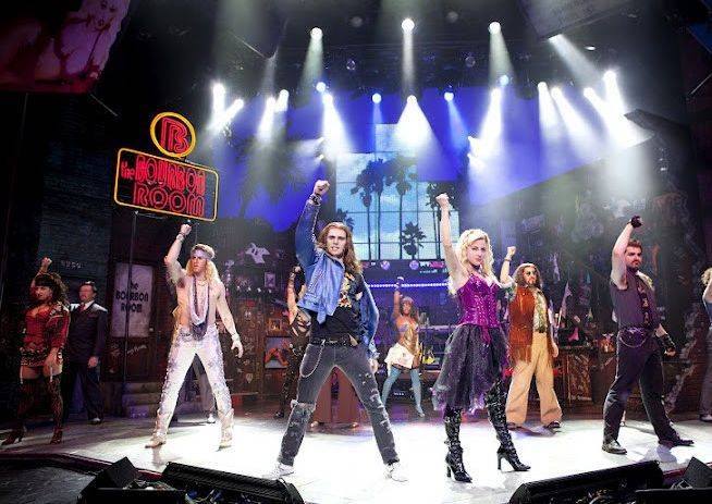 "Eager, young rockers triumph in ""Rock of Ages,"" the Tony Award-nominated musical that returns to Chicago for a nine-week engagement at the Broadway Playhouse."