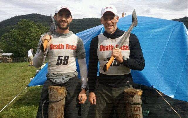 Matthew Robinson, left, after completing the 2011 Spartan Death Race with Eric Ashley, who will be joining him again this summer. Robinson was one of just 35 competitors to complete the arduous race last year.