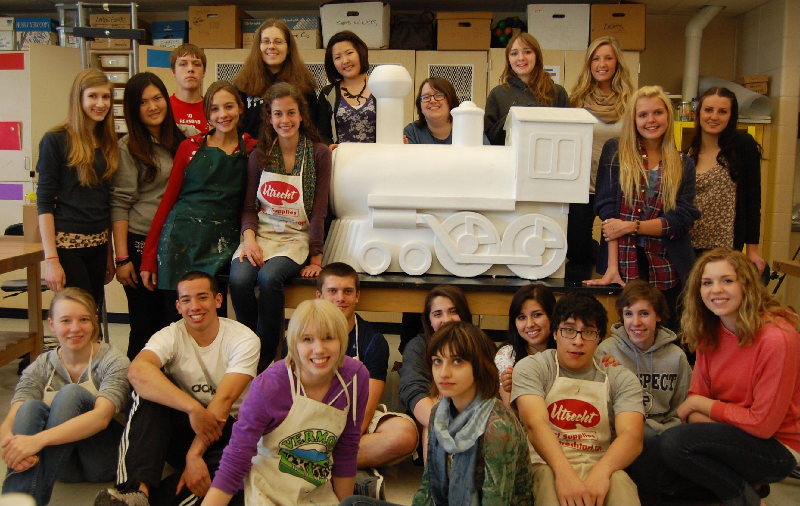 This is what the Prospect High School students faced at the beginning of their project to create a train for Bradish Associates. The train will be on display outside the company's office, 215 N. Arlington Heights Road, as part of Arlington Heights celebration of its 125th anniversary.