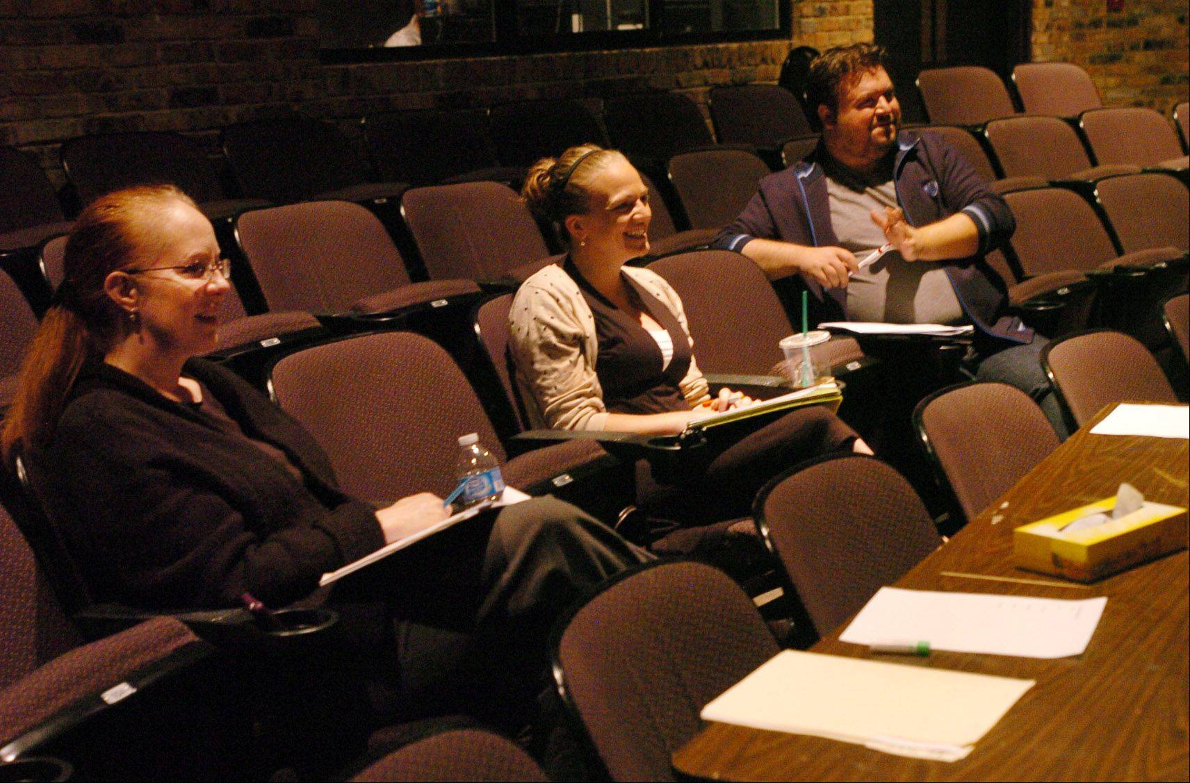 Metropolis judges from left, Robin Hughes, Michelle Shaver and Miky York evaluate the talent at Suburban Chicago's Got Talent at the Metropolis Performing Arts Centre.
