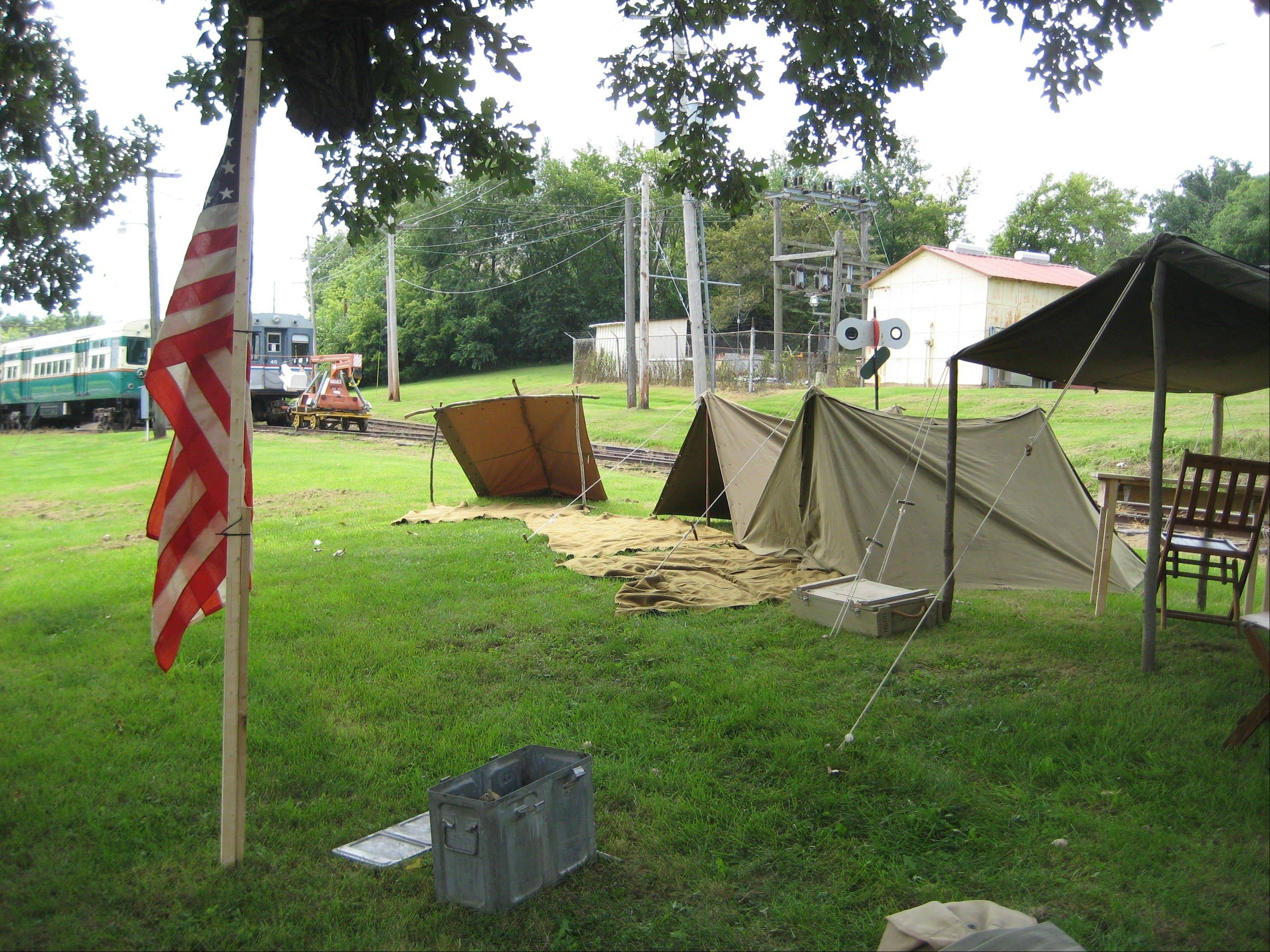 An American military encampment sits ready for trolley museum patrons as part of last summer's living history event. This year's event, Rails to Victory, is set for Saturday and Sunday, June 9-10.
