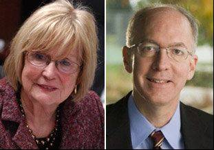 Judy Biggert and Bill Foster will square off in the 11th Congressional District race in November.