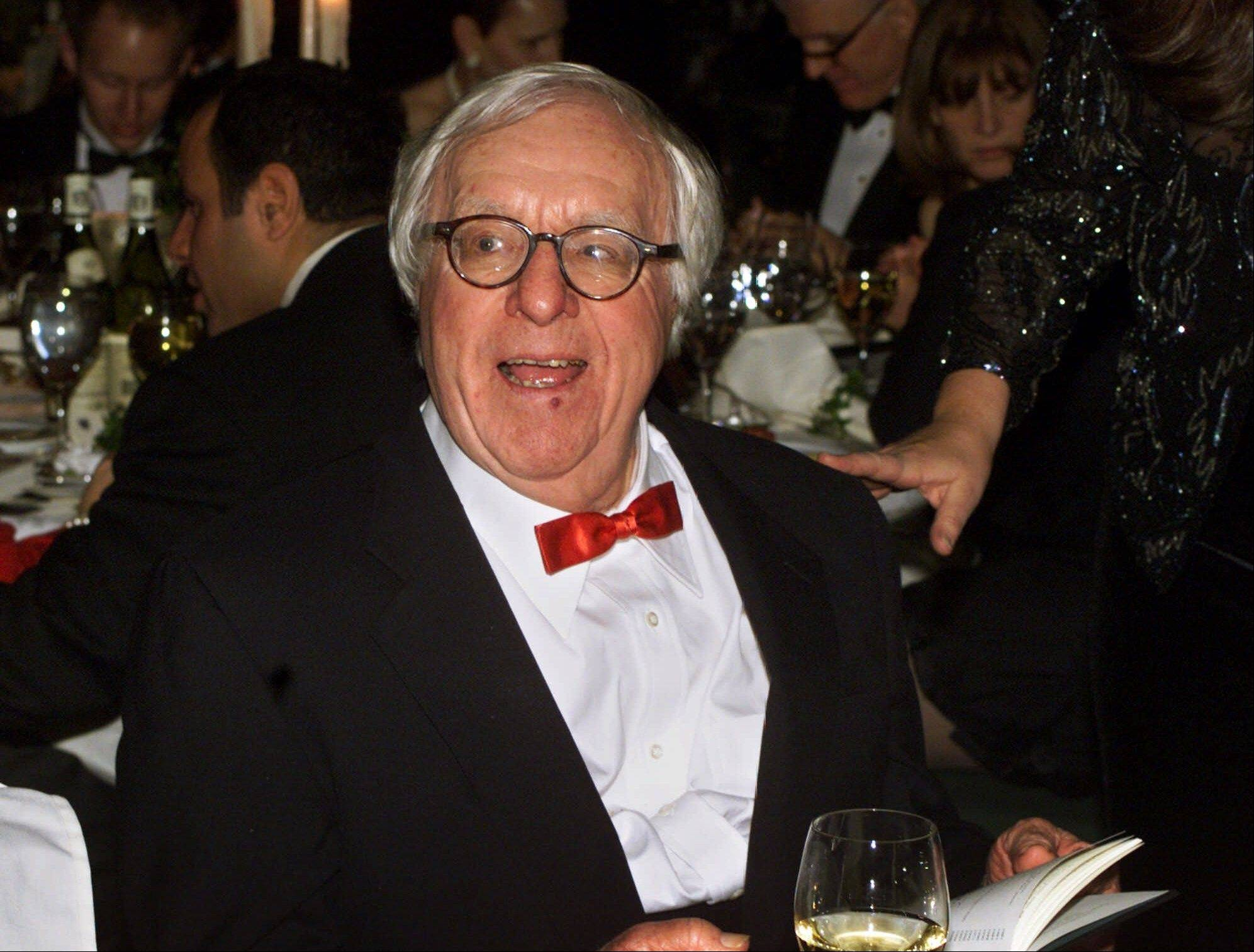 Science fiction writer Ray Bradbury speaks in 2000 at the National Book Awards in New York, where he was given the Medal for Distinguished Contribution to American Letters. Bradbury, who wrote everything from science fiction and mystery to humor, died Tuesday at age 91.