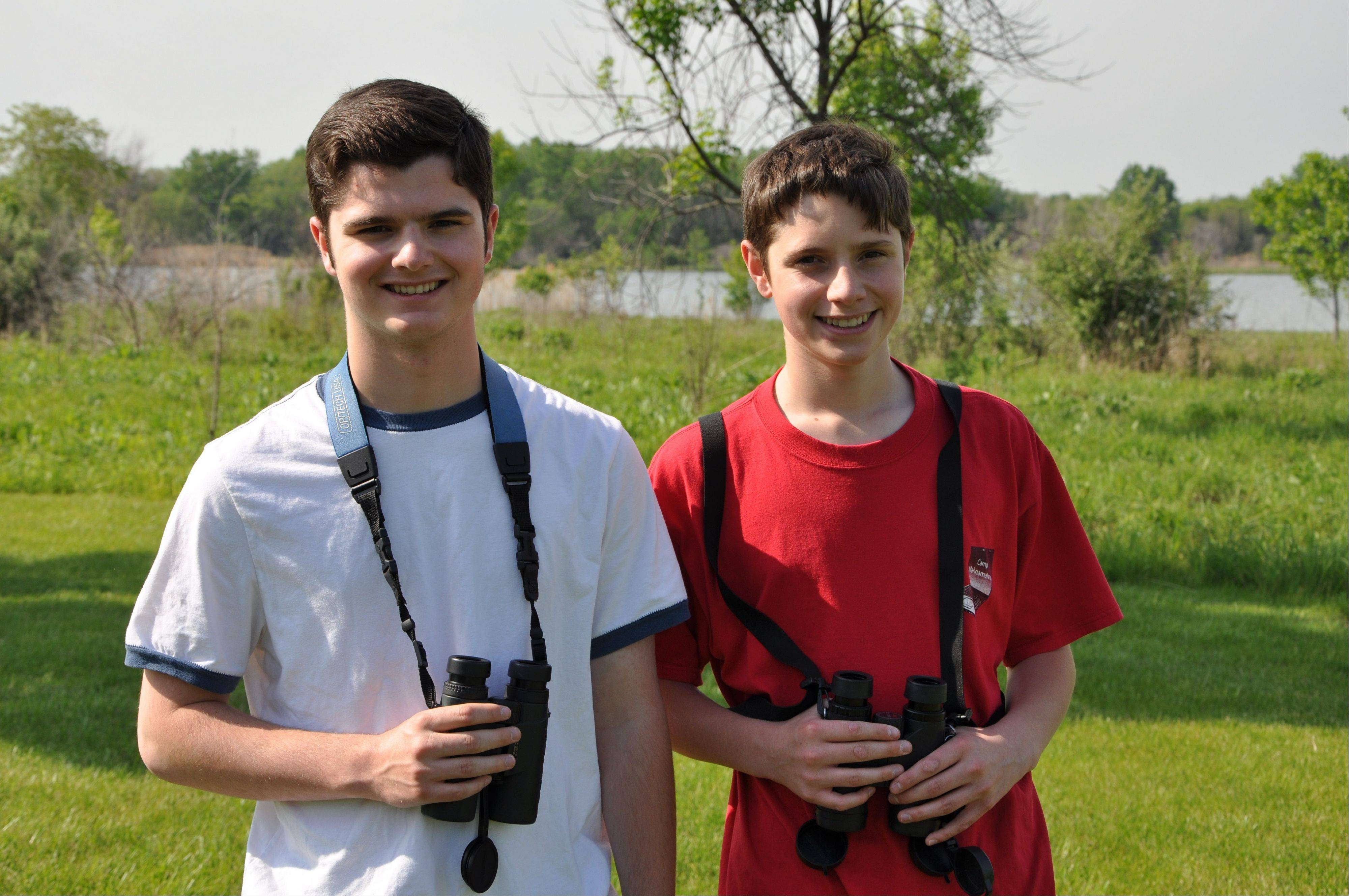 Bloomingdale birders Graham Deese, left, and his brother, Henrey, have seen nearly 500 species. Their life list will grow this month in Colorado.