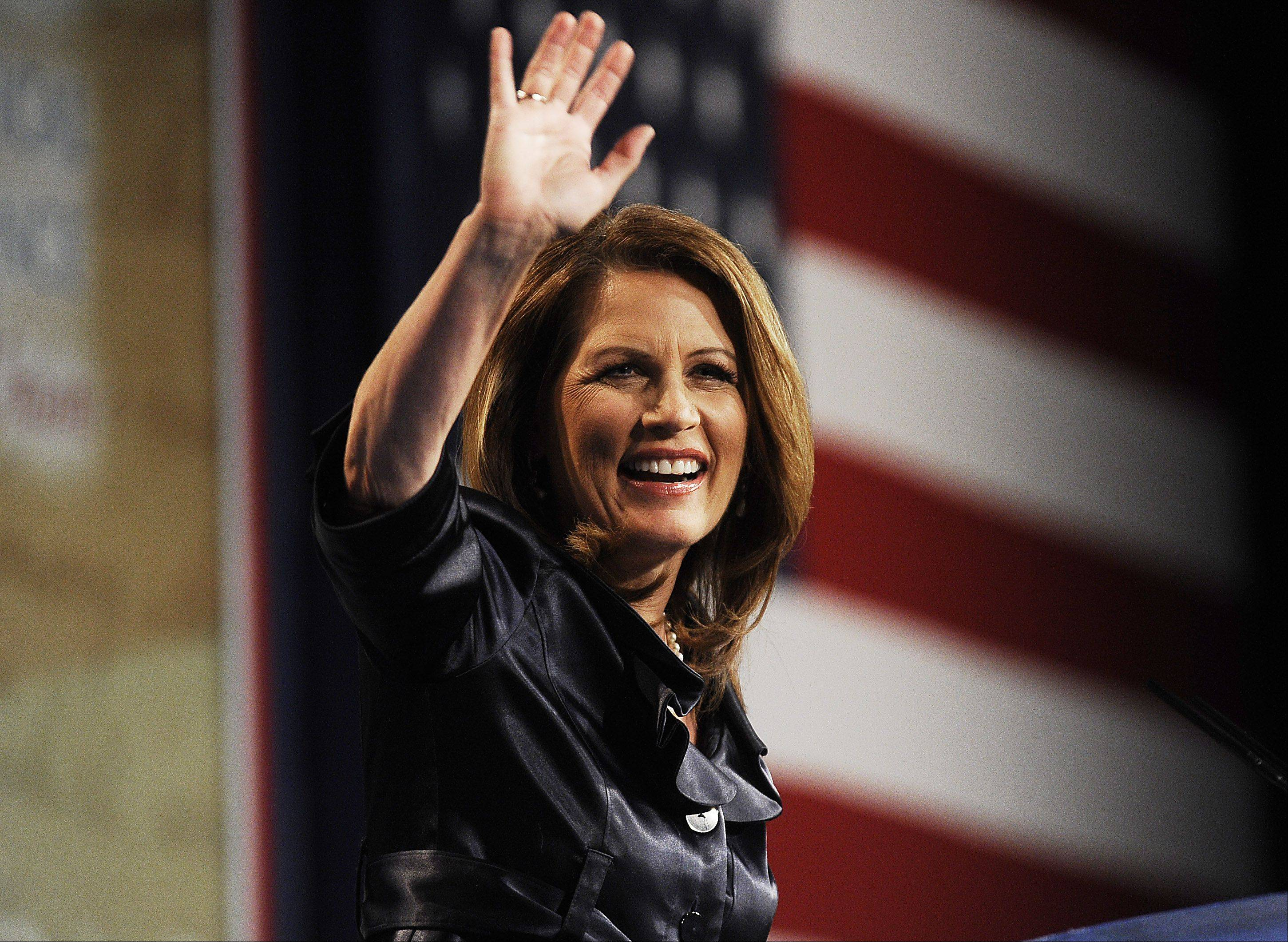 Former Republican presidential candidate Michele Bachmann speaks at the CPAC Chicago's Conservative Political Action Conference on Friday at the Stephens Convention Center in Rosemont.