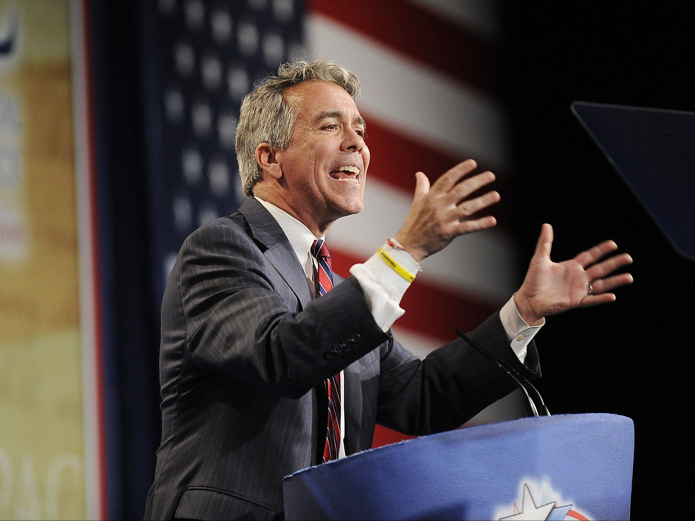 Congressman Joe Walsh of McHenry speaks at the CPAC Chicago's Conservative Political Action Conference on Friday at the Stephens Convention Center in Rosemont.