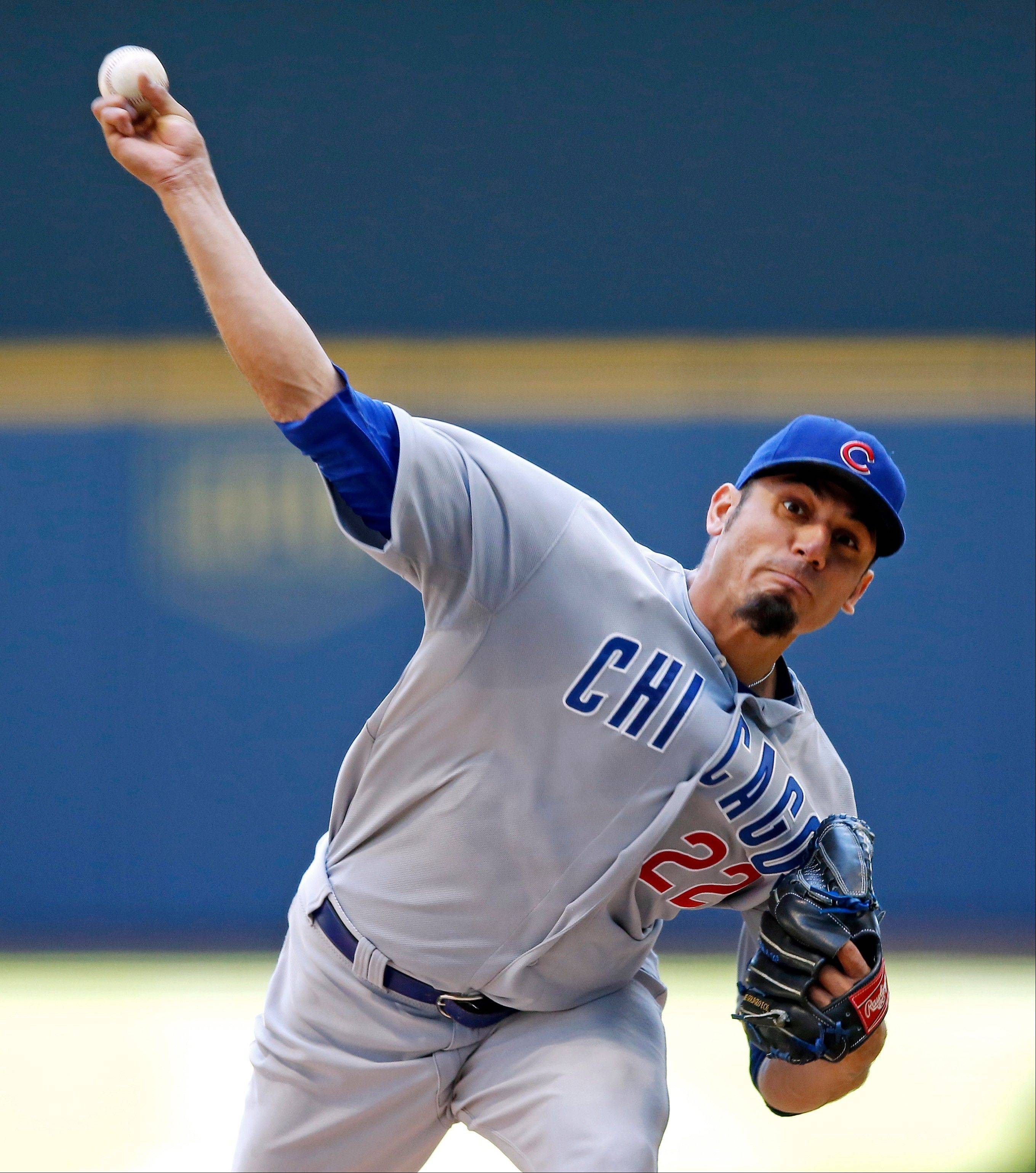 Matt Garza turned in another quality start for the Cubs on Thursday in Milwaukee.