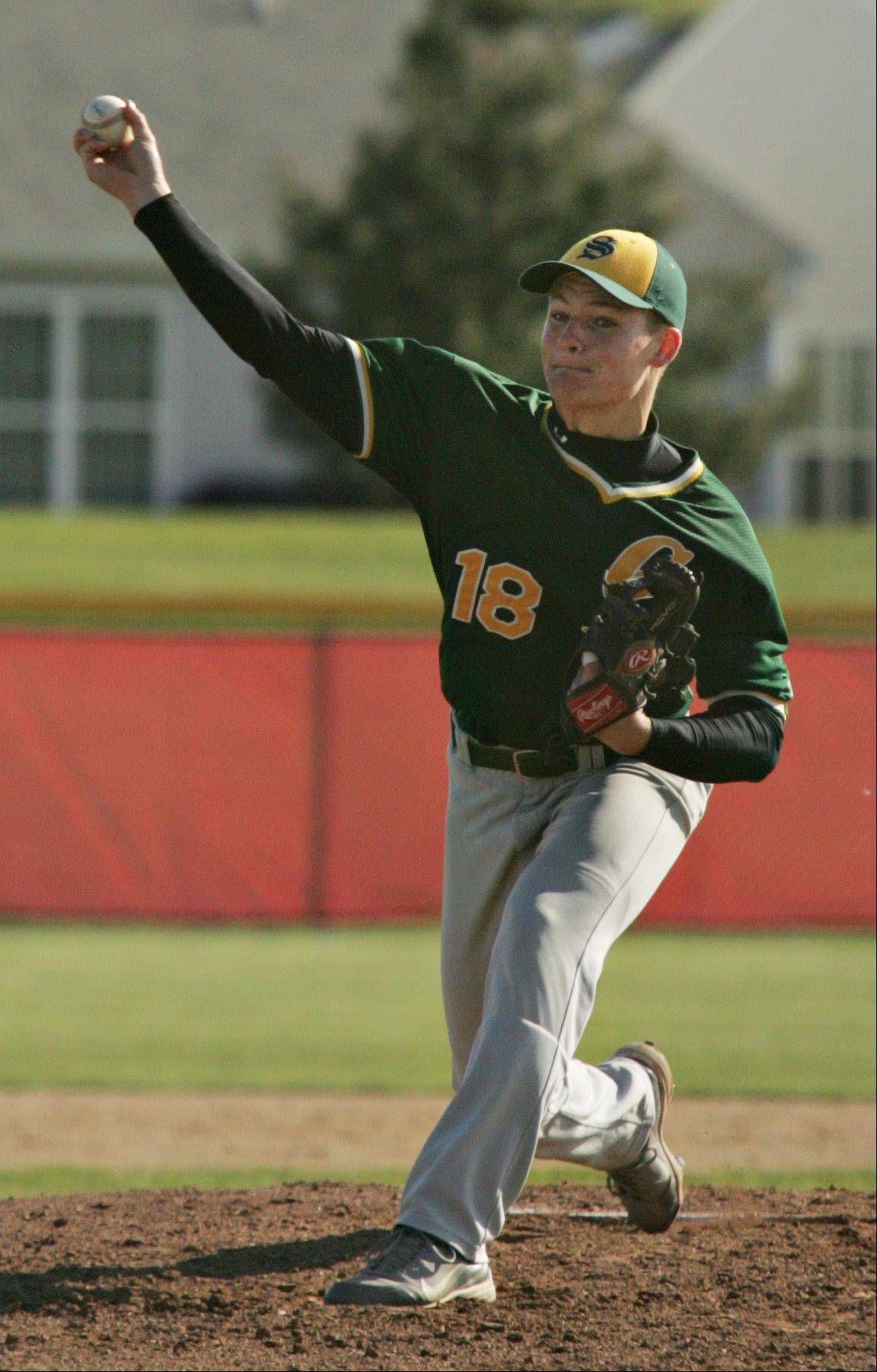 Crystal Lake South pitcher Jordan Van Dyck.
