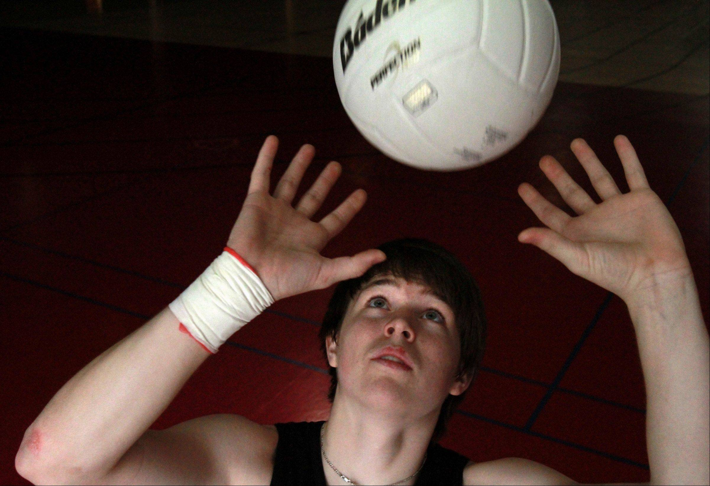 Barrington volleyball player Austin Czarnecki.