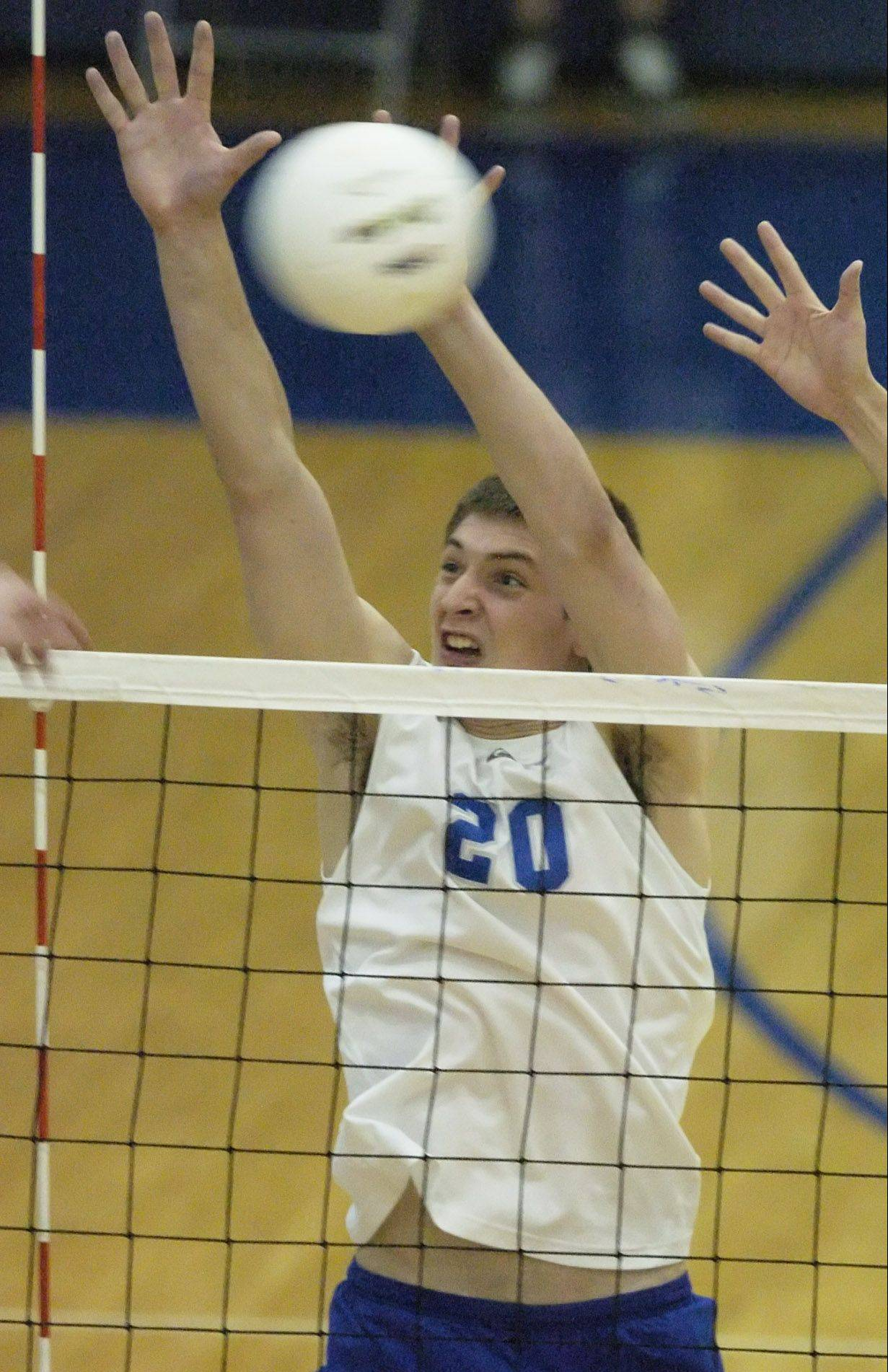 Vernon Hills' Martin Niemczewski was a big net gain for the Cougars volleyball program.