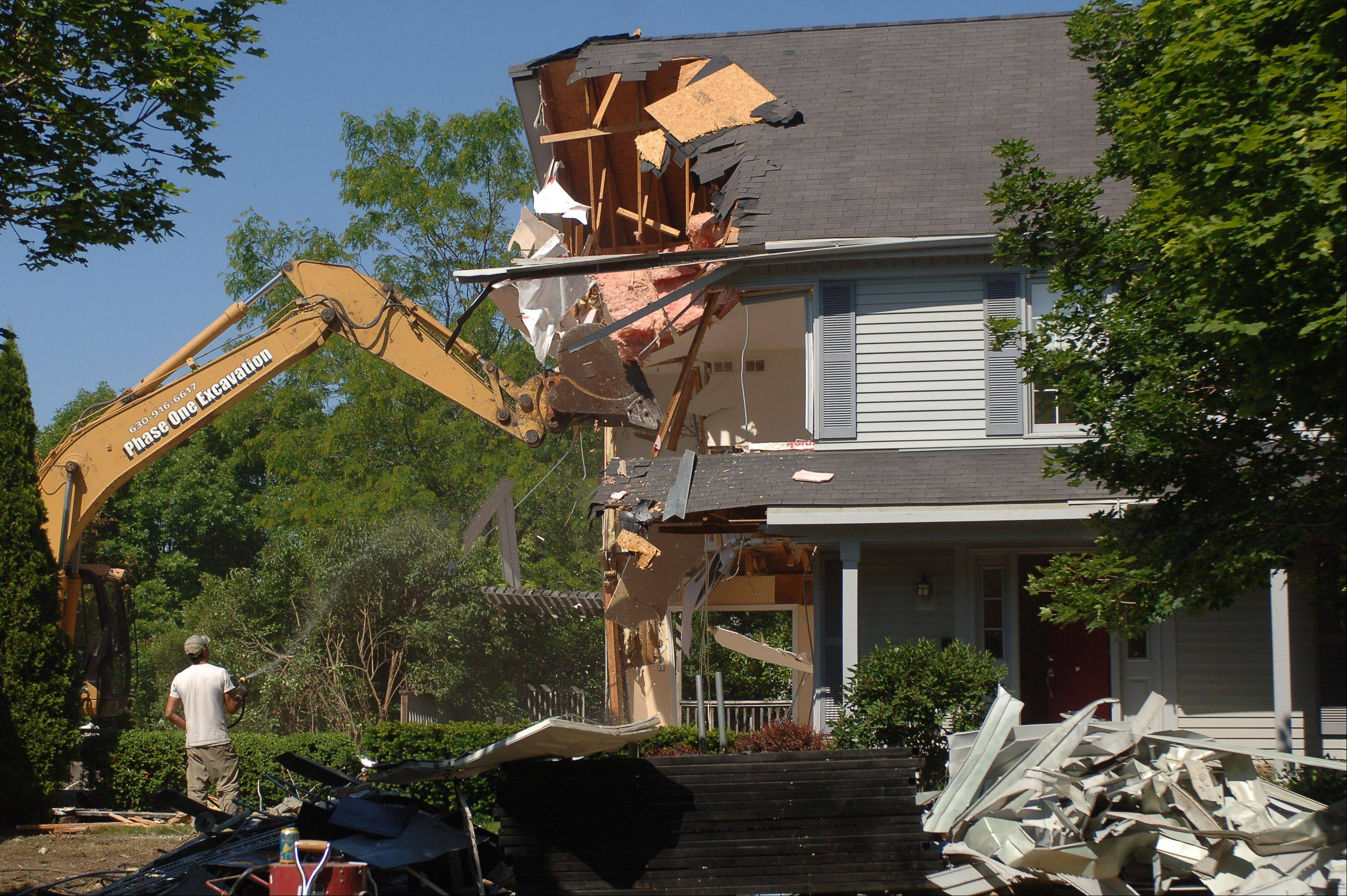 Ongoing court action ends with demolition of Vernon Hills home