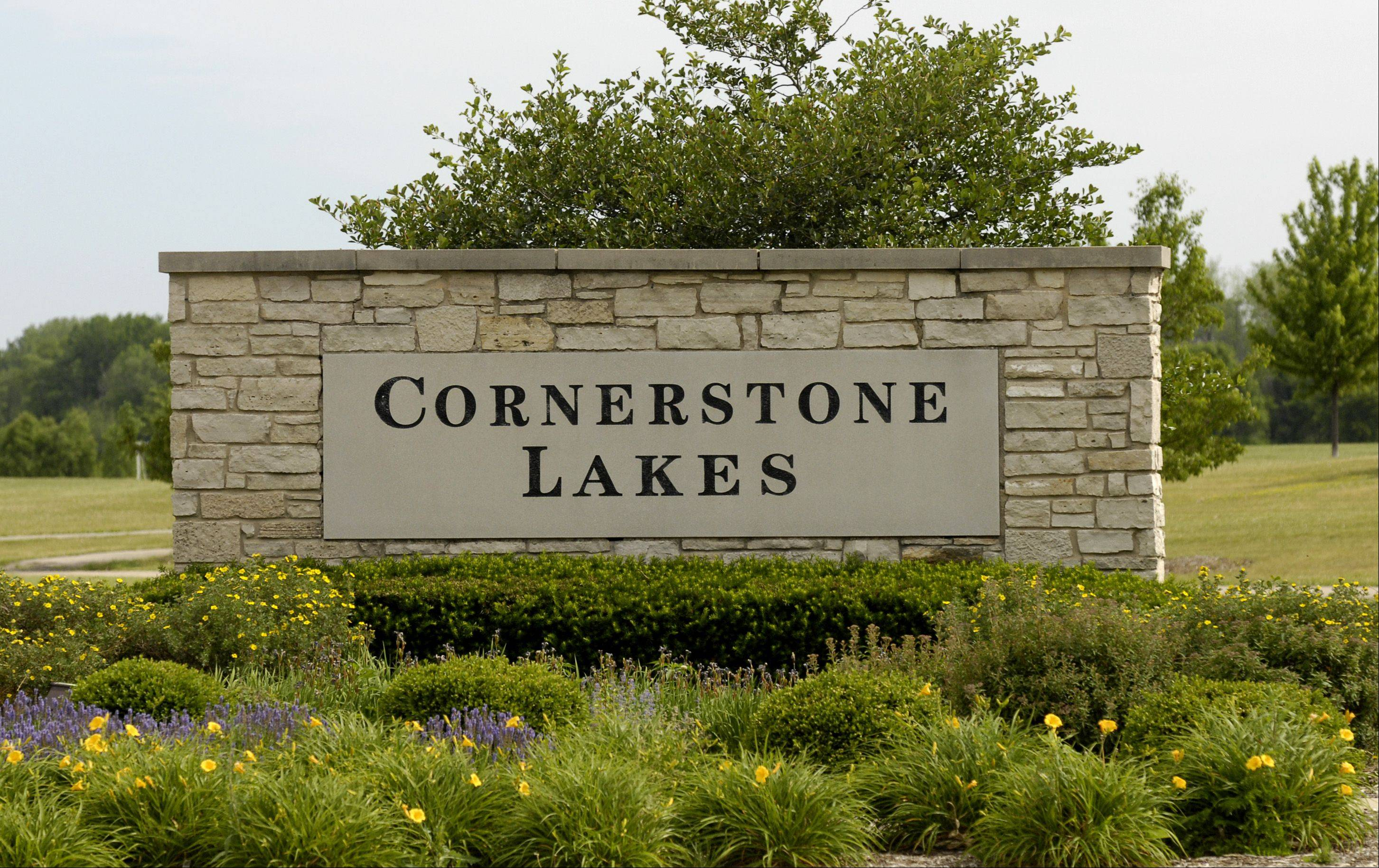 Homes in Cornerstone Lakes were built about 15 years ago. While in West Chicago, the subdivision's children attend St. Charles schools.