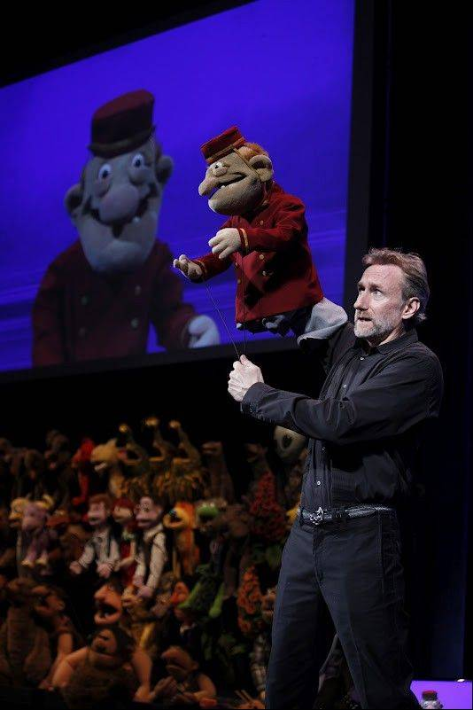 "Brian Henson manipulates a puppet in the adults-only show ""Stuffed and Unstrung"" which plays the Bank of America Theatre in Chicago from Tuesday, June 12, through Sunday, June 17."