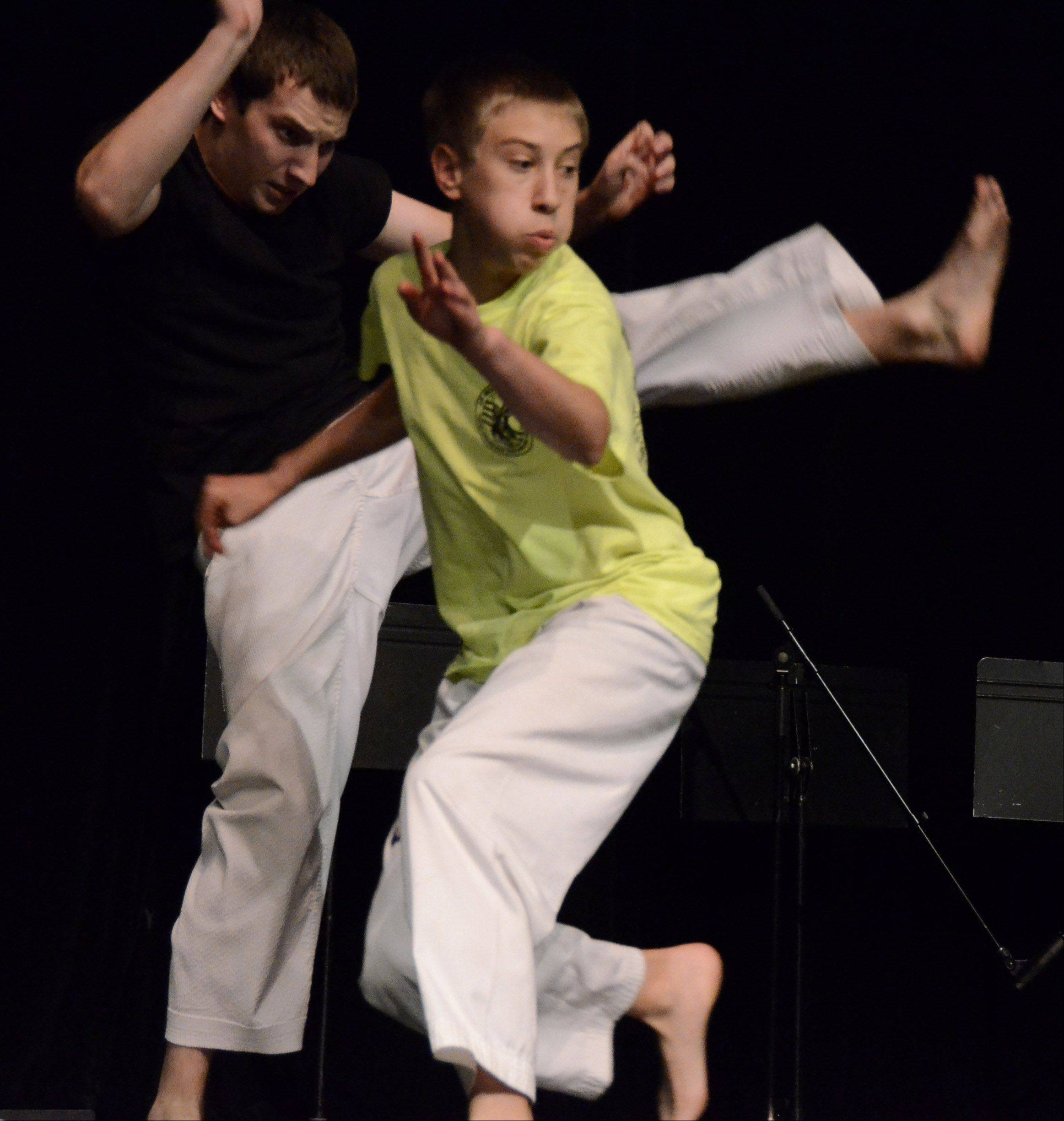 The judges at Suburban Chicago's Got Talent auditions were impressed with the martial arts fighting of Rory Wood, 18, and his brother Casey, 15, both of Palatine.