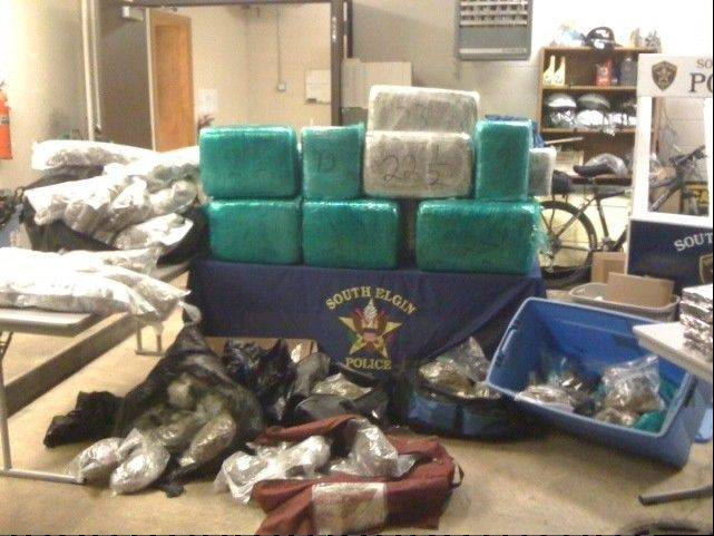 South Elgin police said they seized about 600 pounds of marijuana after the traffic stop arrest of Claudio Ochoa, 47, in August 2011 and a subsequent search of a Carpentersville residence.