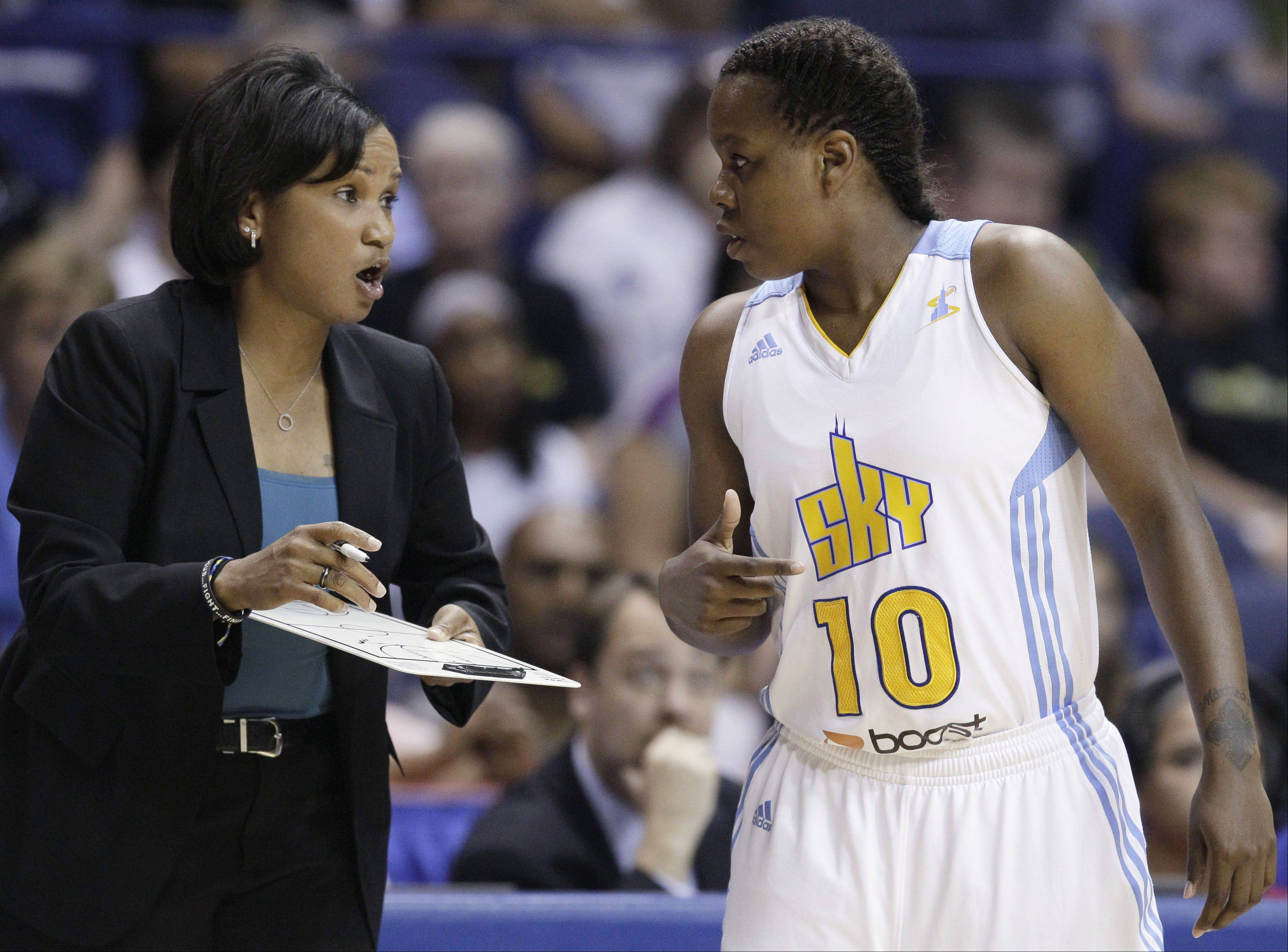 Chicago Sky head coach Pokey Chatman has been pushing guard Epiphanny Prince to take charge on the floor. This season, Prince has responded and leads the WNBA in scoring.