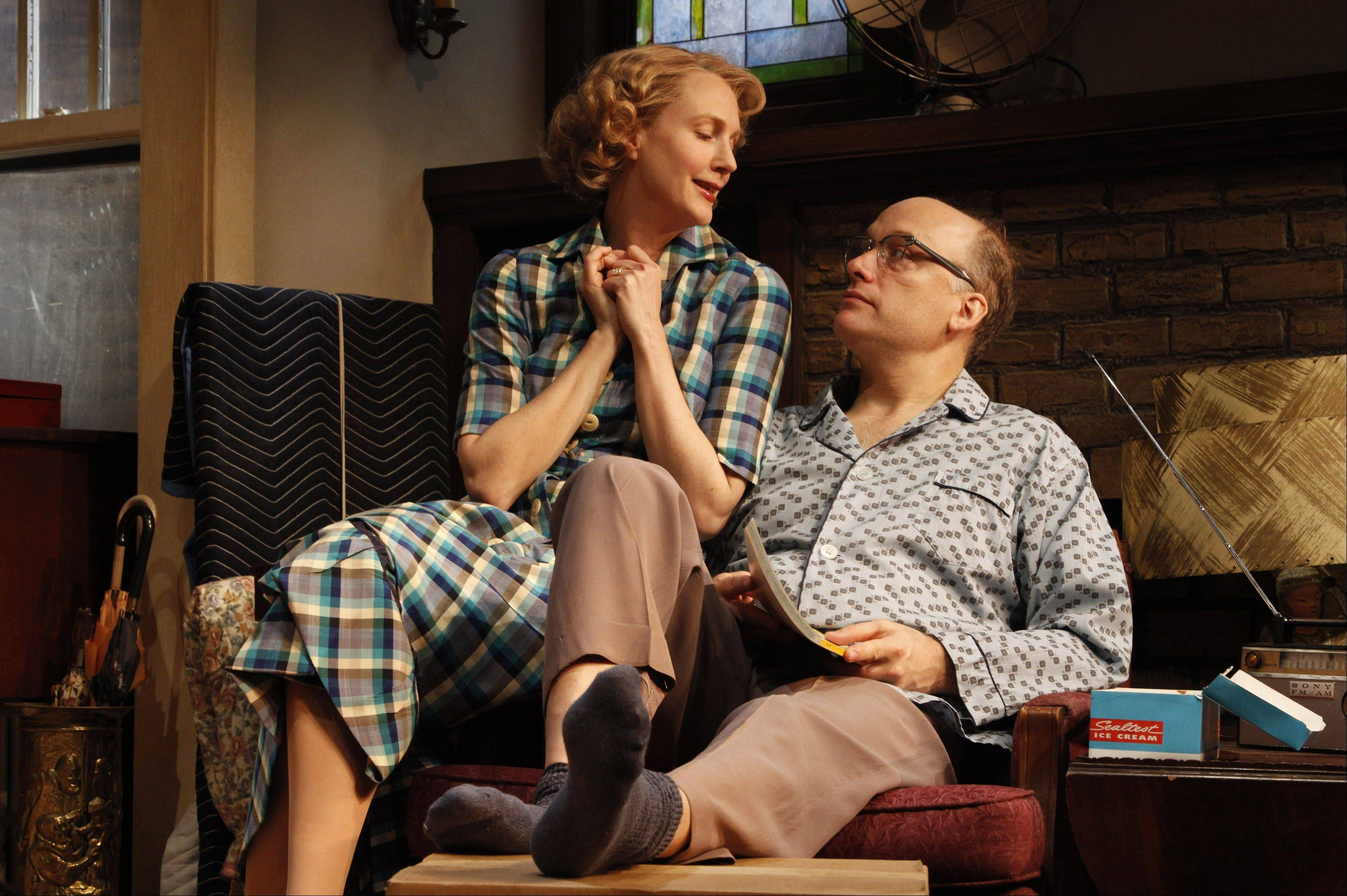 "Christina Kirk, left, and Frank Wood star in Bruce Norris' ""Clybourne Park"" at Playwrights Horizons in New York. The production is nominated for best play at the Tony Awards, airing Sunday on CBS."