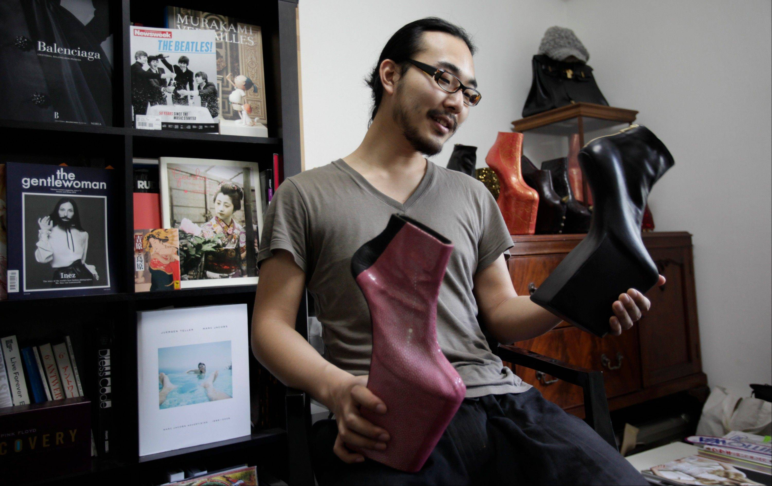 Japanese shoe designer Noritaka Tatehana says he would like to design clothes someday.