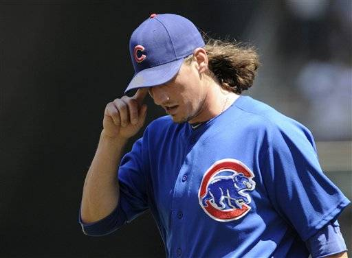 Jeff Samardzija (5-4) gave up eight runs and nine hits in 3 2-3 innings, tying his shortest outing of the season for the Cubs, who have lost 20 of their past 24 games.
