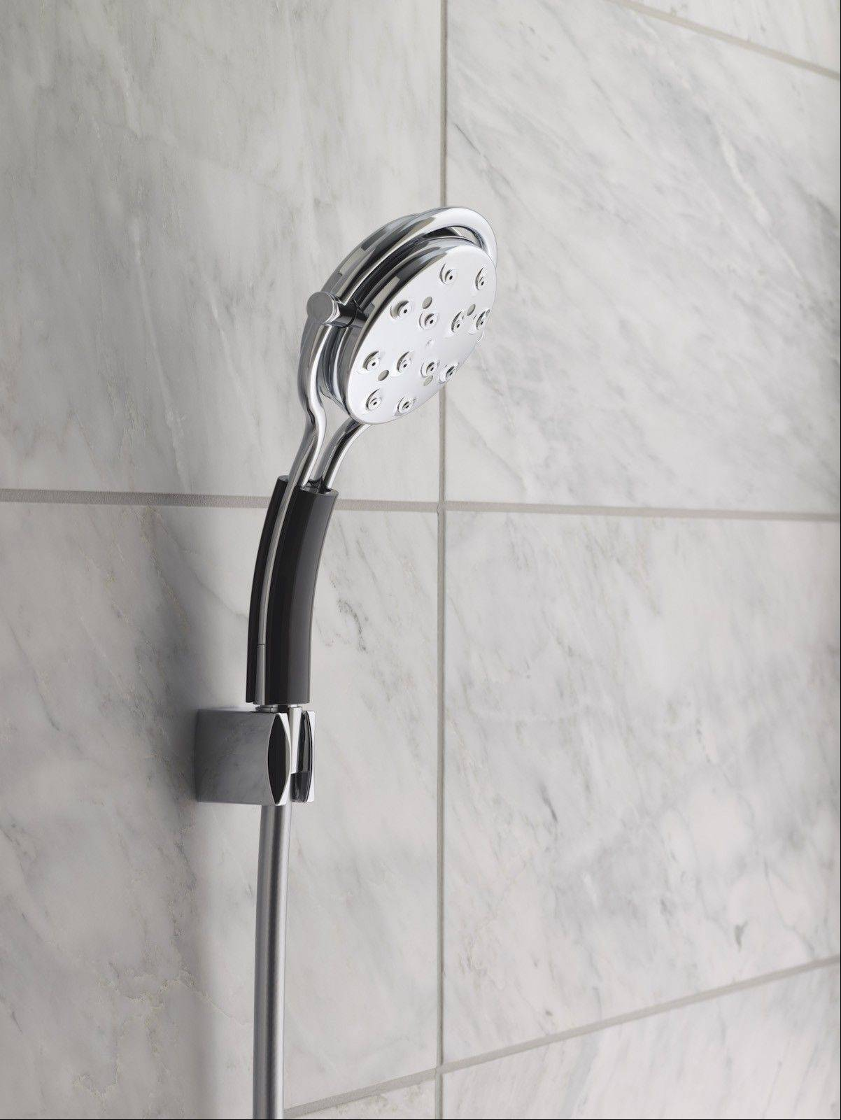 If you're lucky enough to have an outdoor shower, invest in a quality showerhead, complete with a hanging bracket that can attach directly to your shower-arm water pipe.